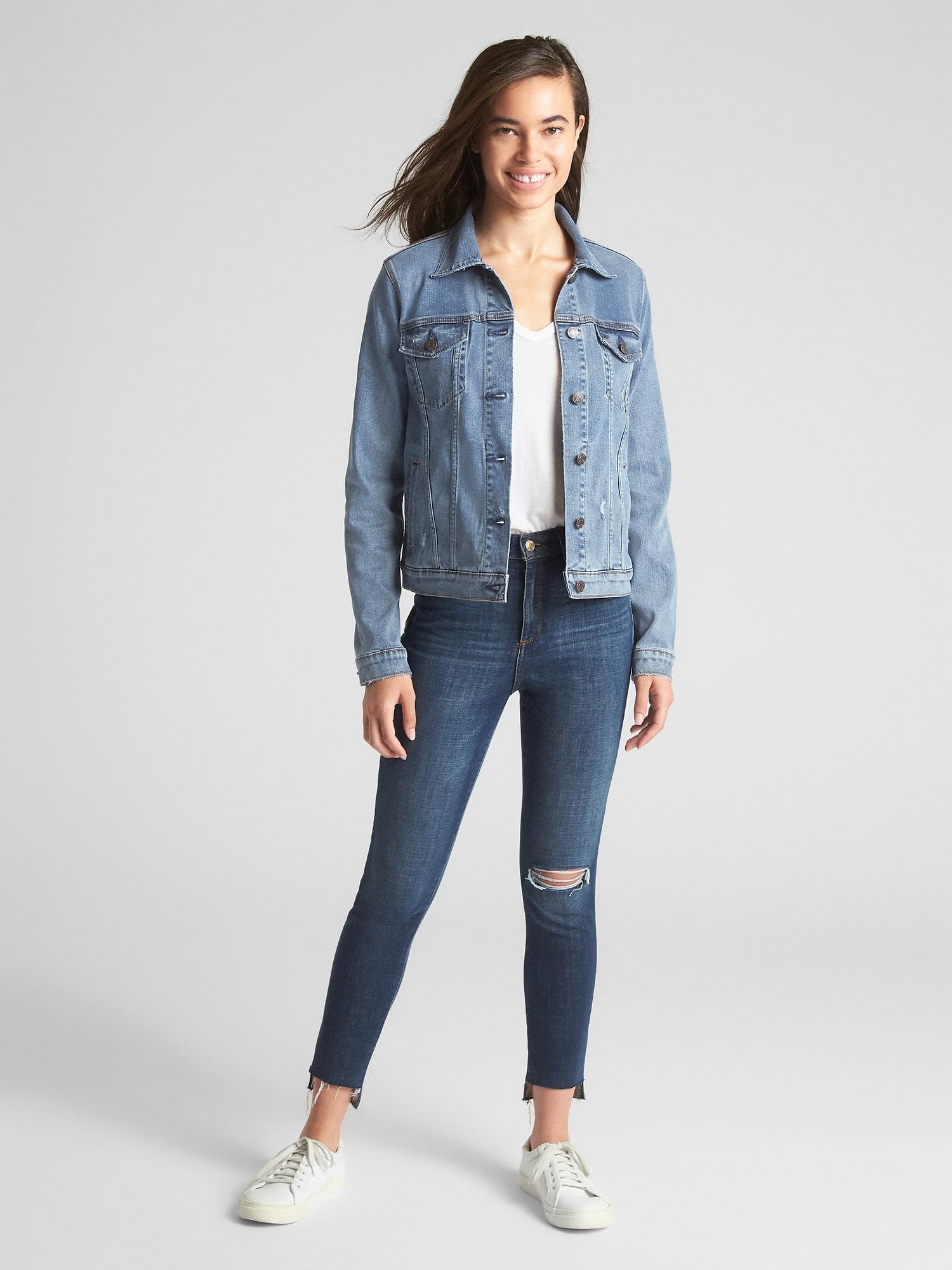 arrives detailed images attractive price Gap Soft Wear Icon Denim Jacket in Blue - Lyst