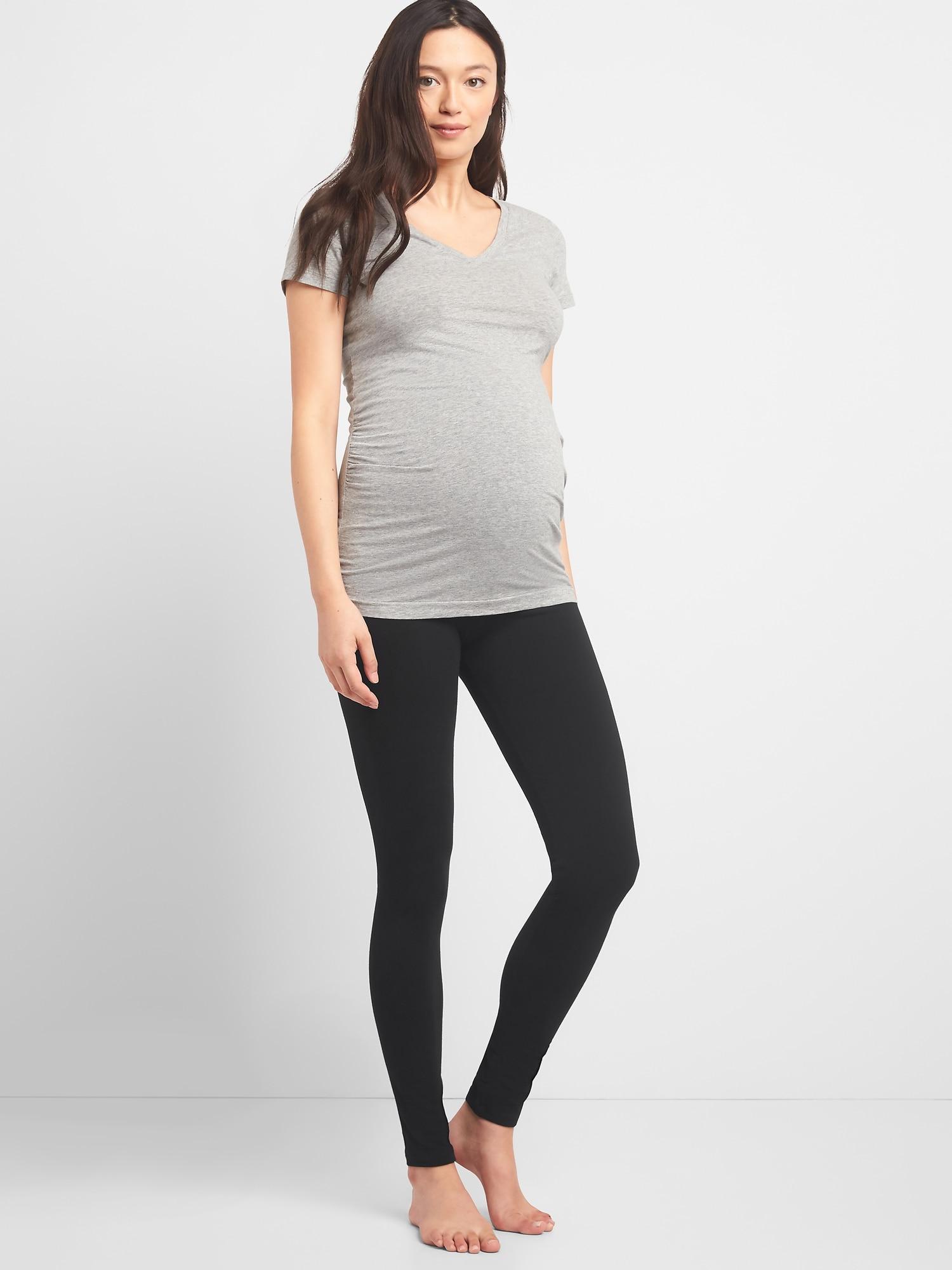 Gap Maternity Pure Body Full Panel Leggings In Black Lyst