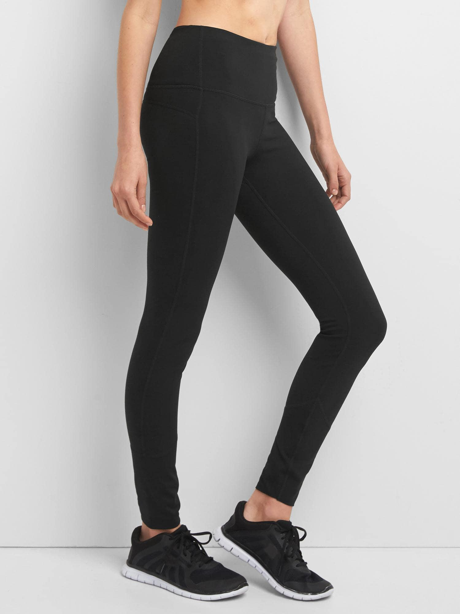 20f5932a32cc0 Lyst - Gap Fit High Rise Blackout Full Length Leggings in Black
