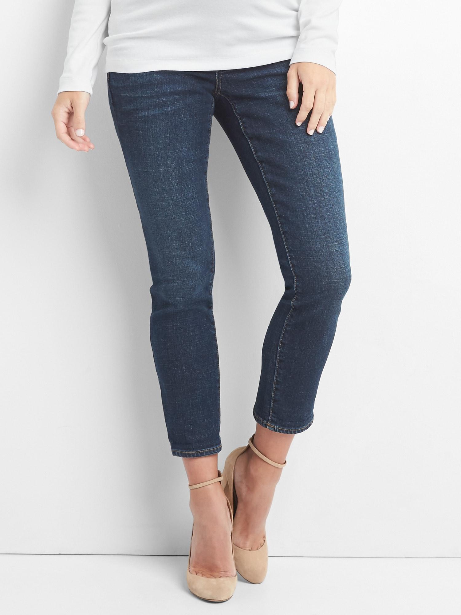 a42a970b751bd Lyst - Gap Maternity Demi Panel Best Girlfriend Jeans in Blue