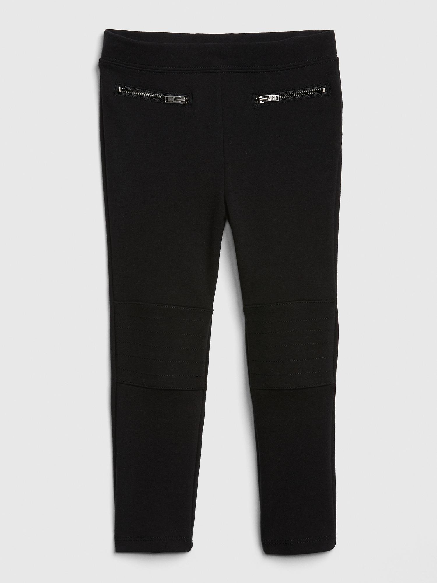 02c088517bc27 Lyst - Gap Moto Pants In Ponte in Black