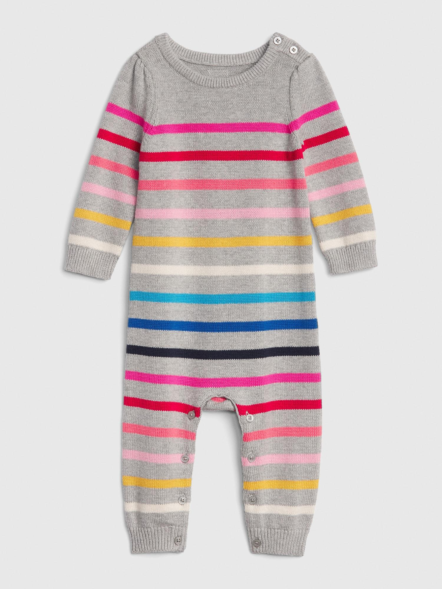 53bbf67f36f1 Lyst - Gap Crazy Stripe Sweater One-piece