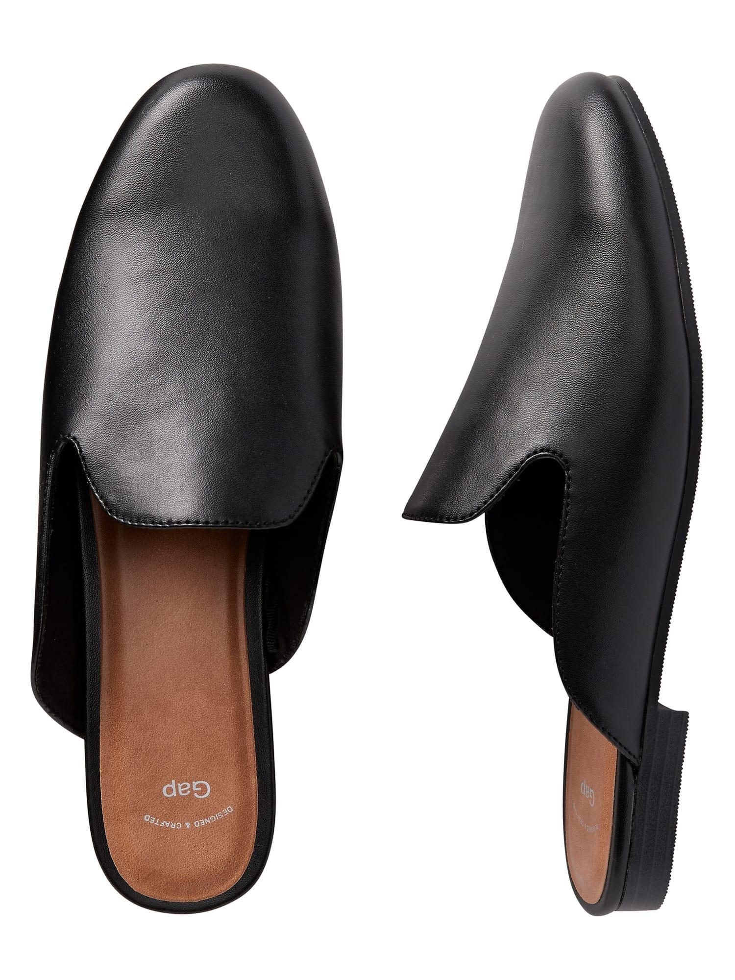 gap black mules best price 0639c da081