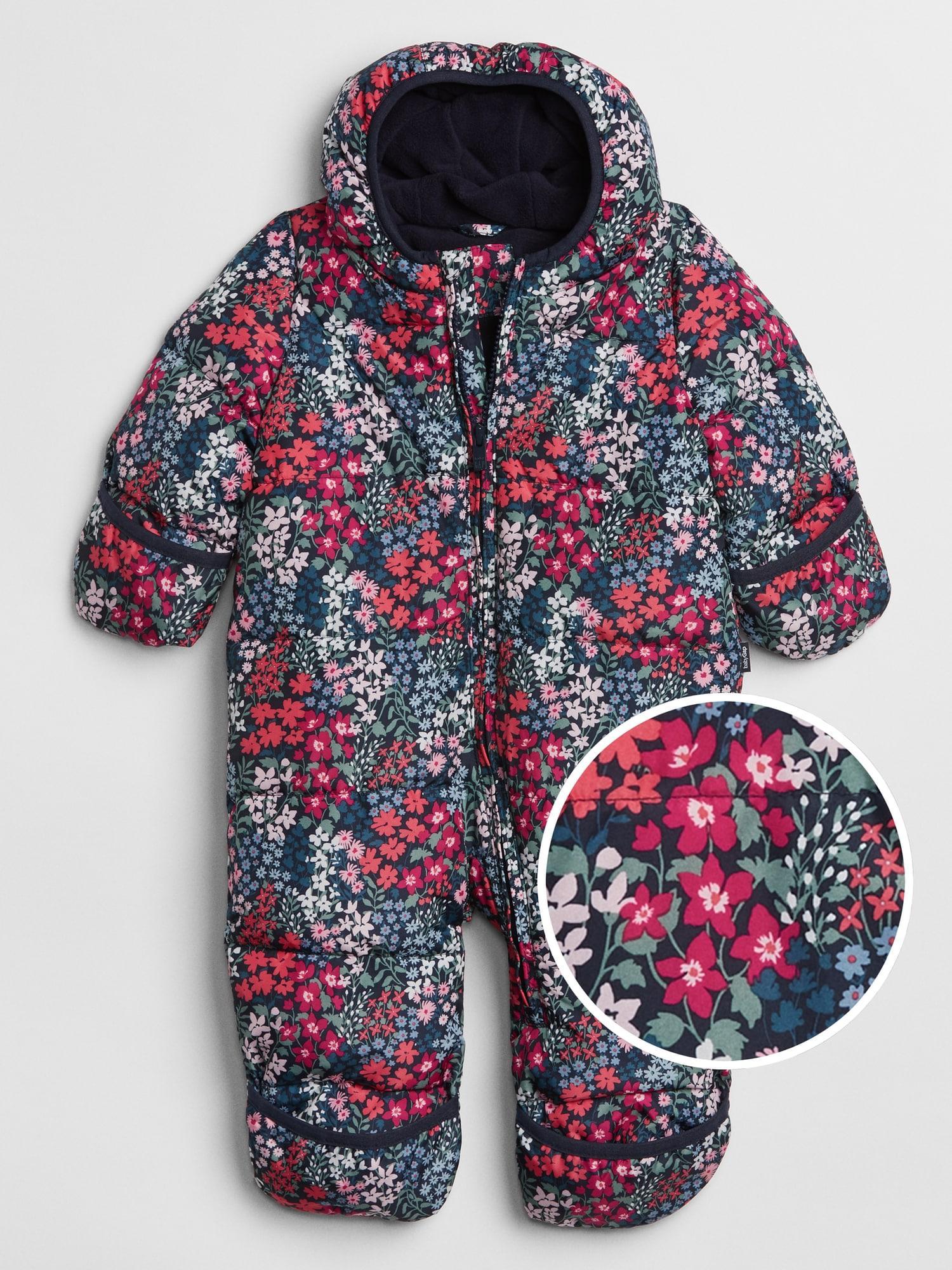 156d31fec GAP Factory Floral Snowsuit in Blue - Lyst