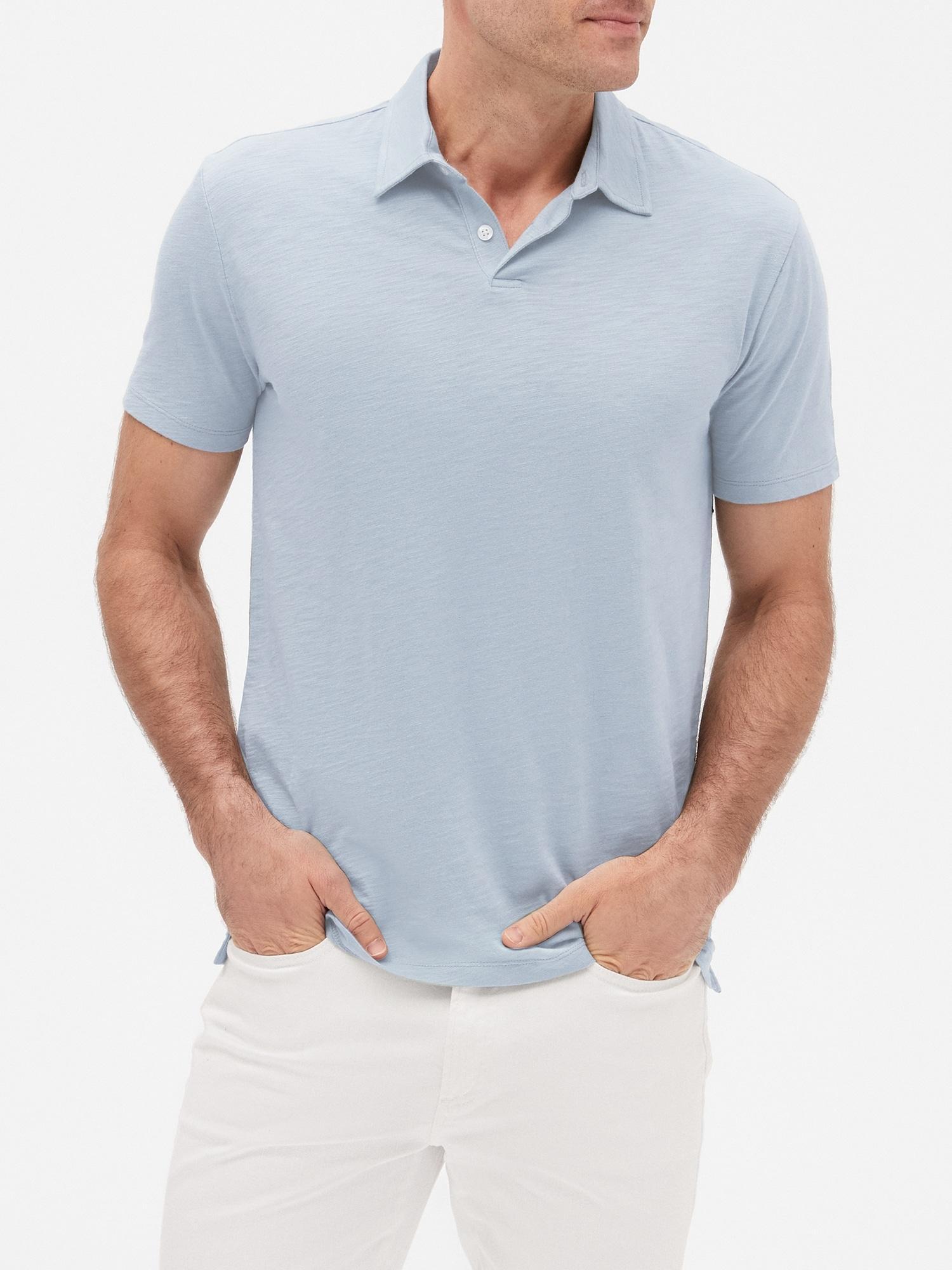 9b0c43264 Lyst - GAP Factory Slub Jersey Polo Shirt for Men