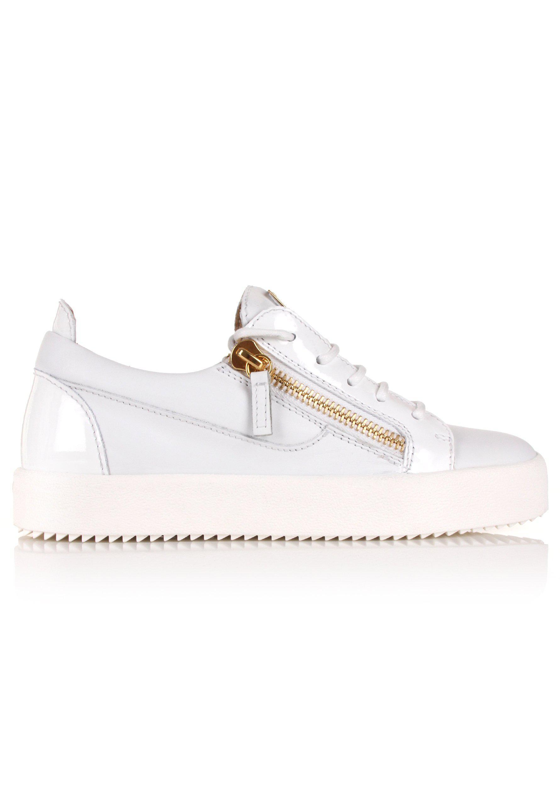 cbe00f60665a4 Giuseppe Zanotti Nicki Low-top Sneakers White/gold in White - Lyst