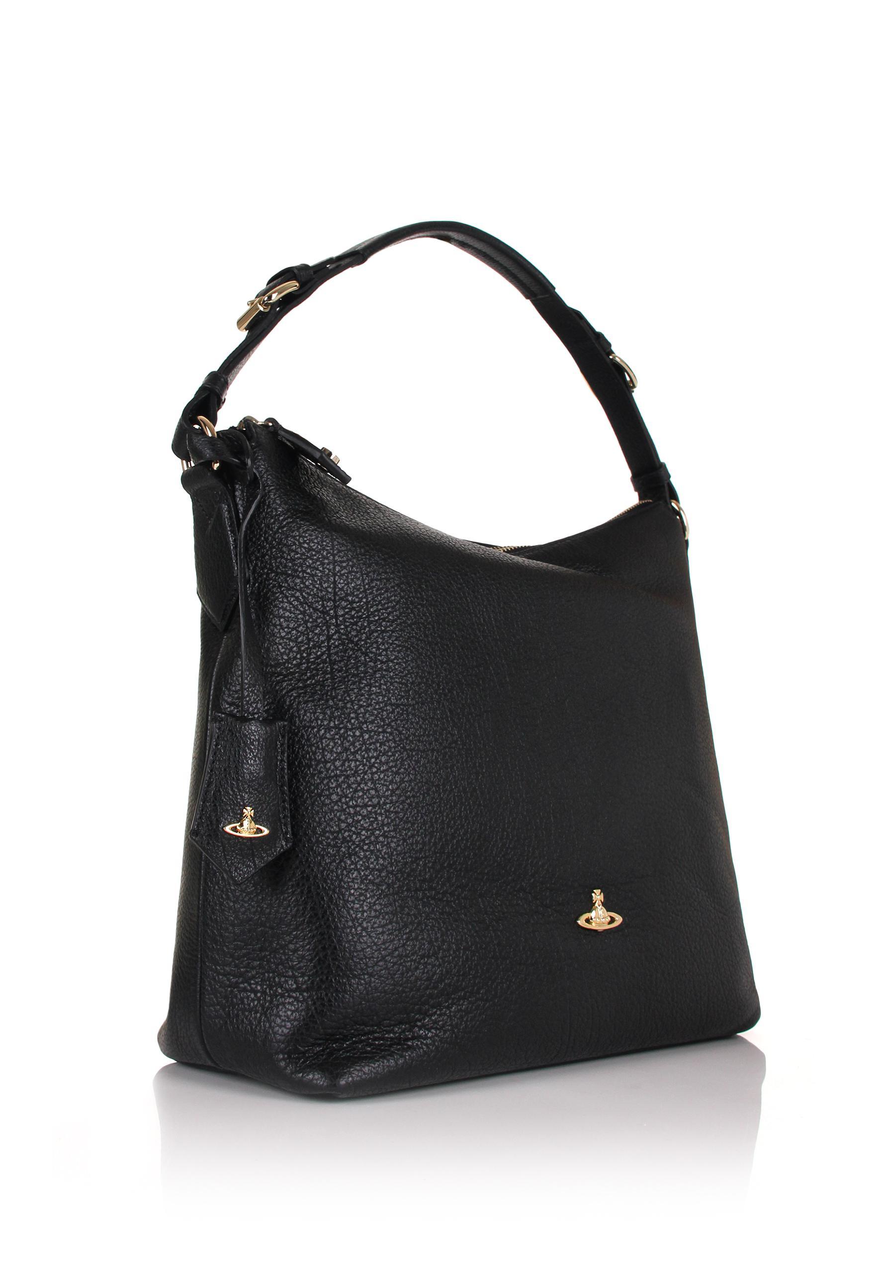 0d512c4ad683 Lyst - Vivienne Westwood Balmoral 131117 Hobo Bag Black in Black