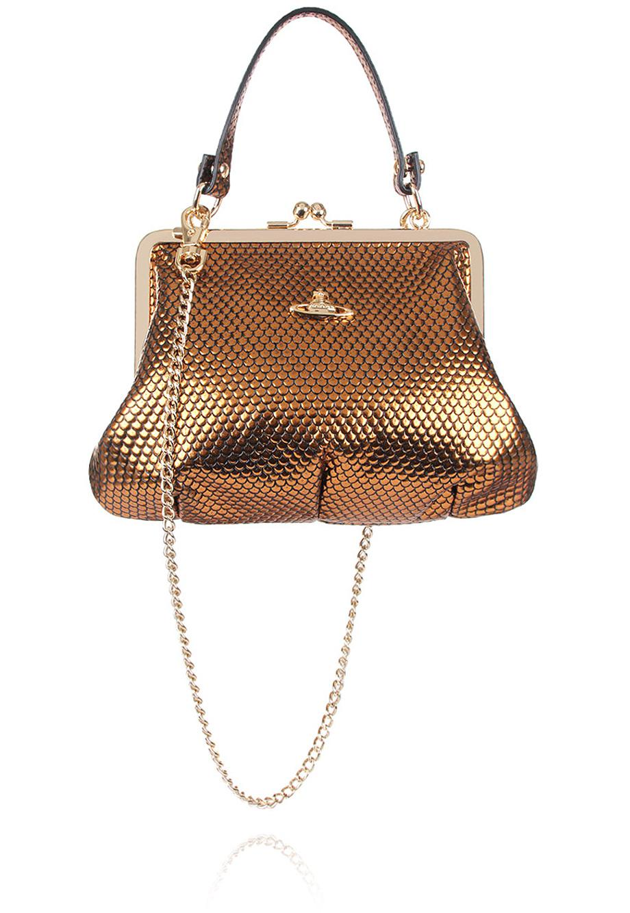 e6cd3494f31 Vivienne Westwood Florence 52020003 Small Evening Bag Gold in ...