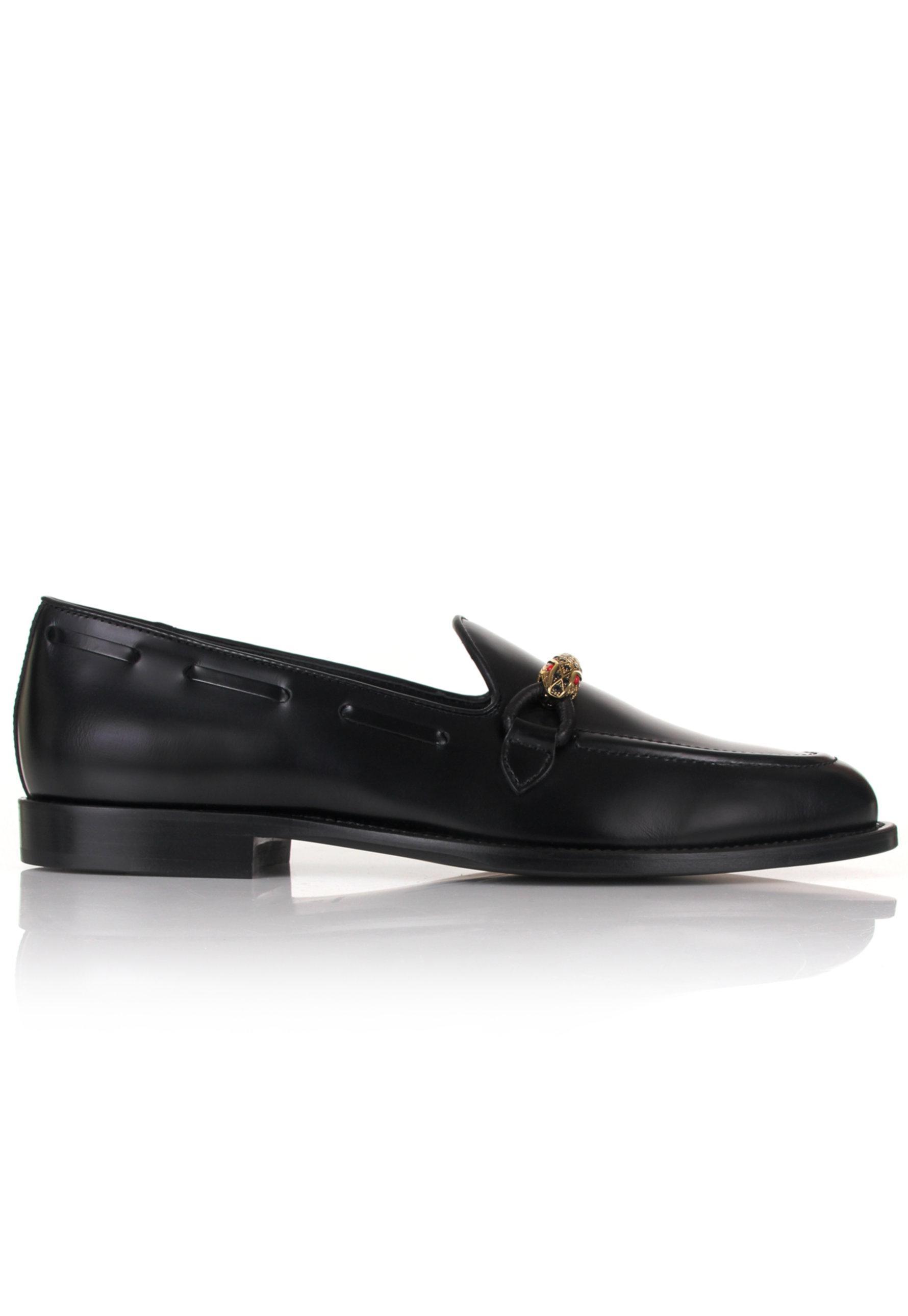 02194b1cd4e3d Giuseppe Zanotti Grady Snake Bit Dress Loafers Black/gold in Black ...