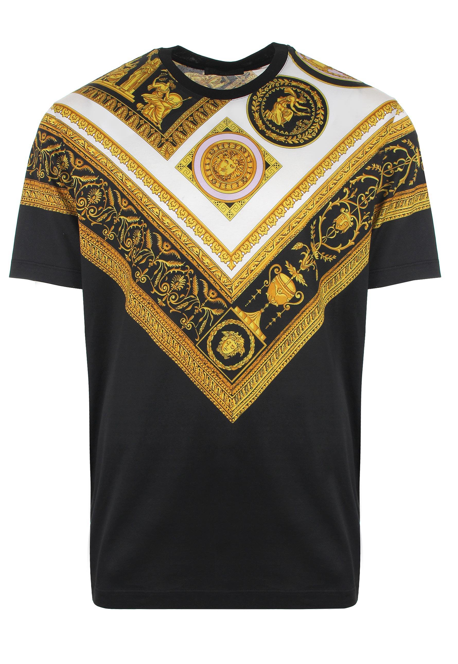 a3a3e6ba2 Versace True Greca V T-shirt Black/gold in Black for Men - Lyst