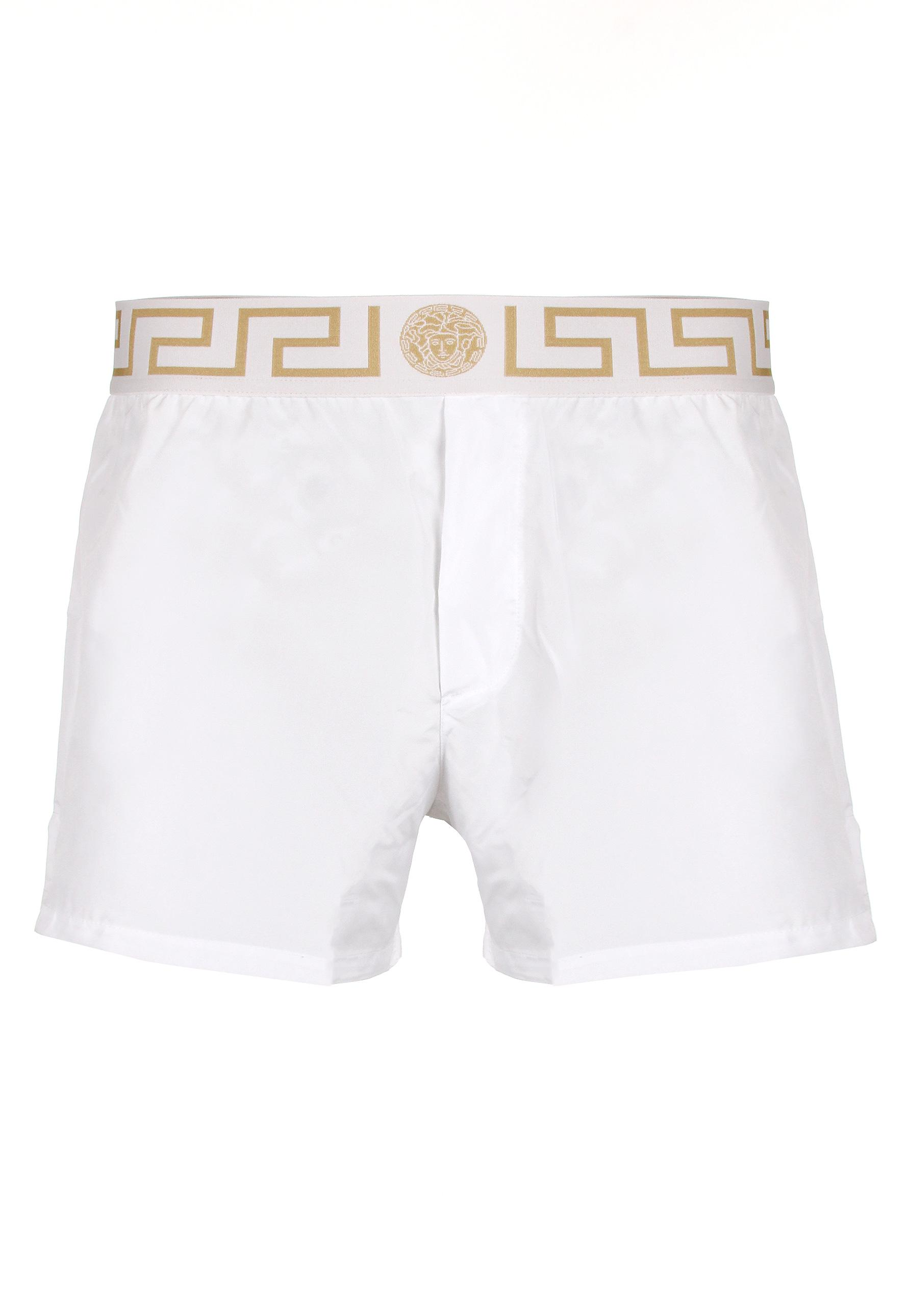 08c98be6df Versace Iconic Greca Swimming Shorts White/gold in White for Men - Lyst