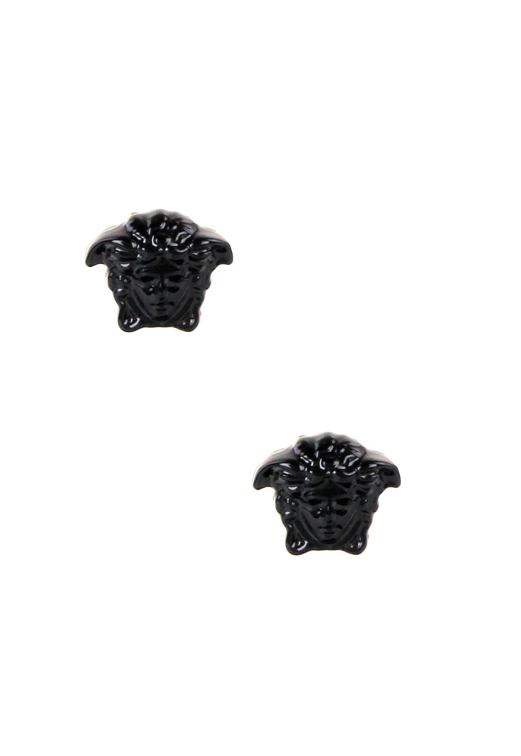 615fbe87e Versace Medusa Head Resin Stud Earrings Black/light Gold in Metallic ...