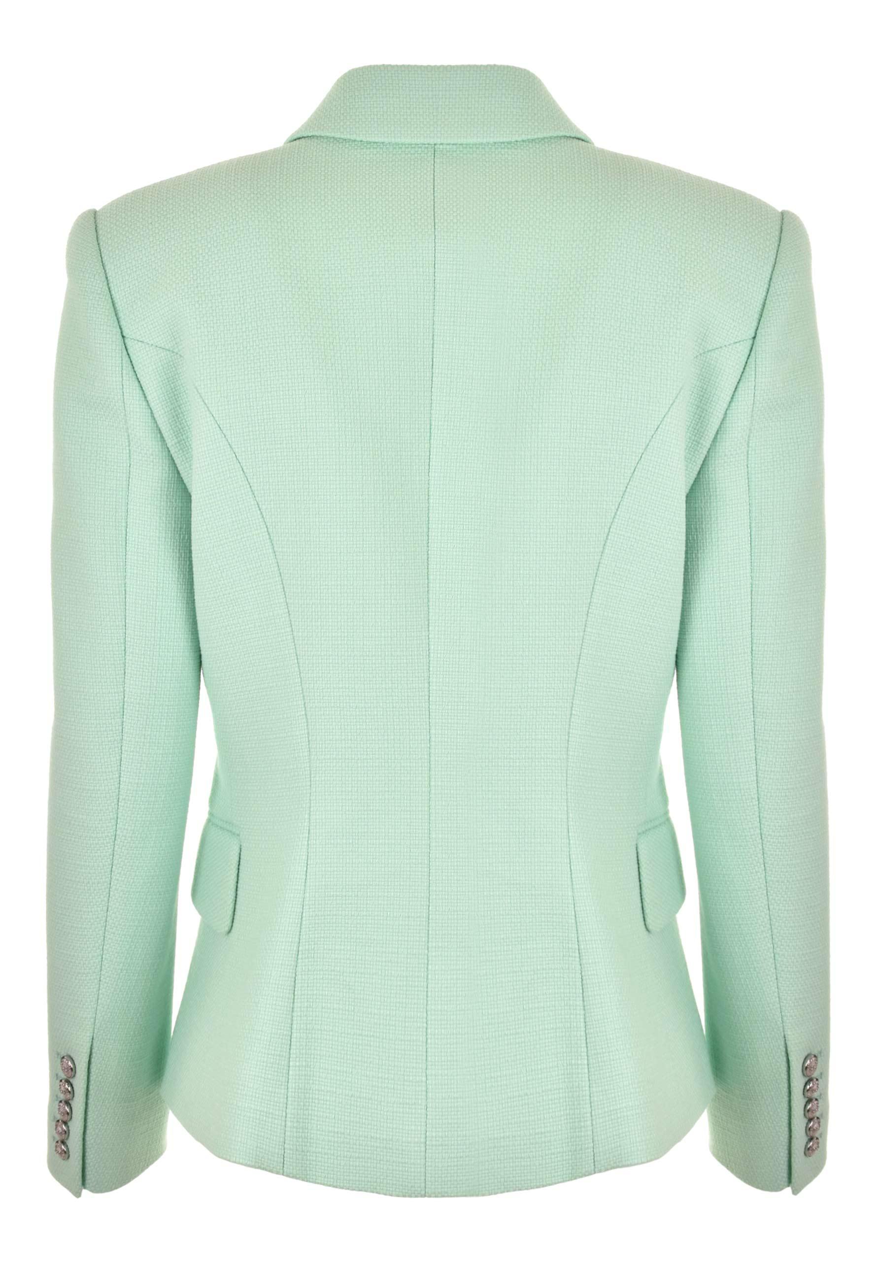 6b8bb3ee Balmain - Green Double Breasted 6 Button Jacket Mint/silver - Lyst. View  fullscreen