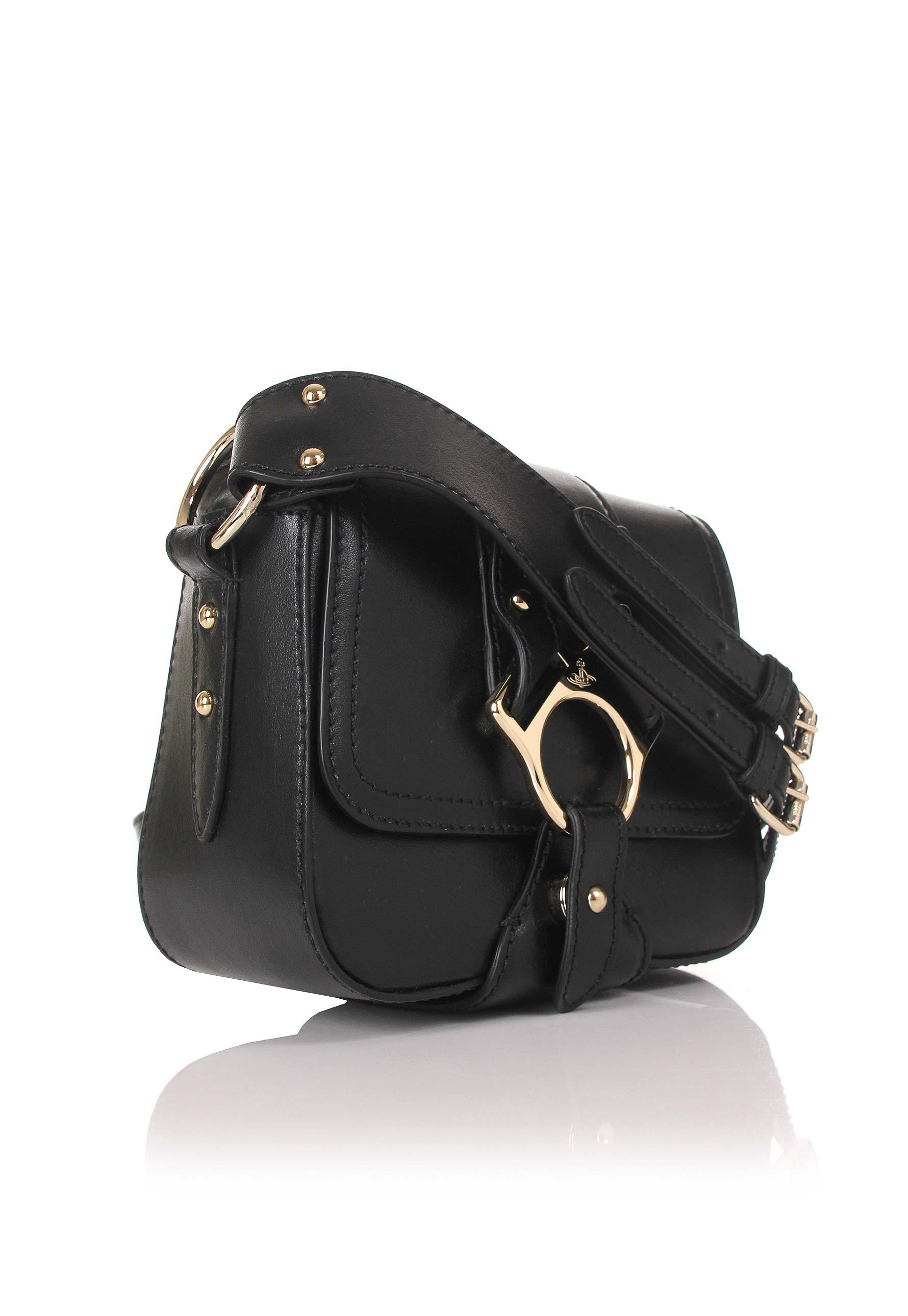 61ea012e66 Vivienne Westwood - Folly 43030021 Small Saddle Bag Black - Lyst