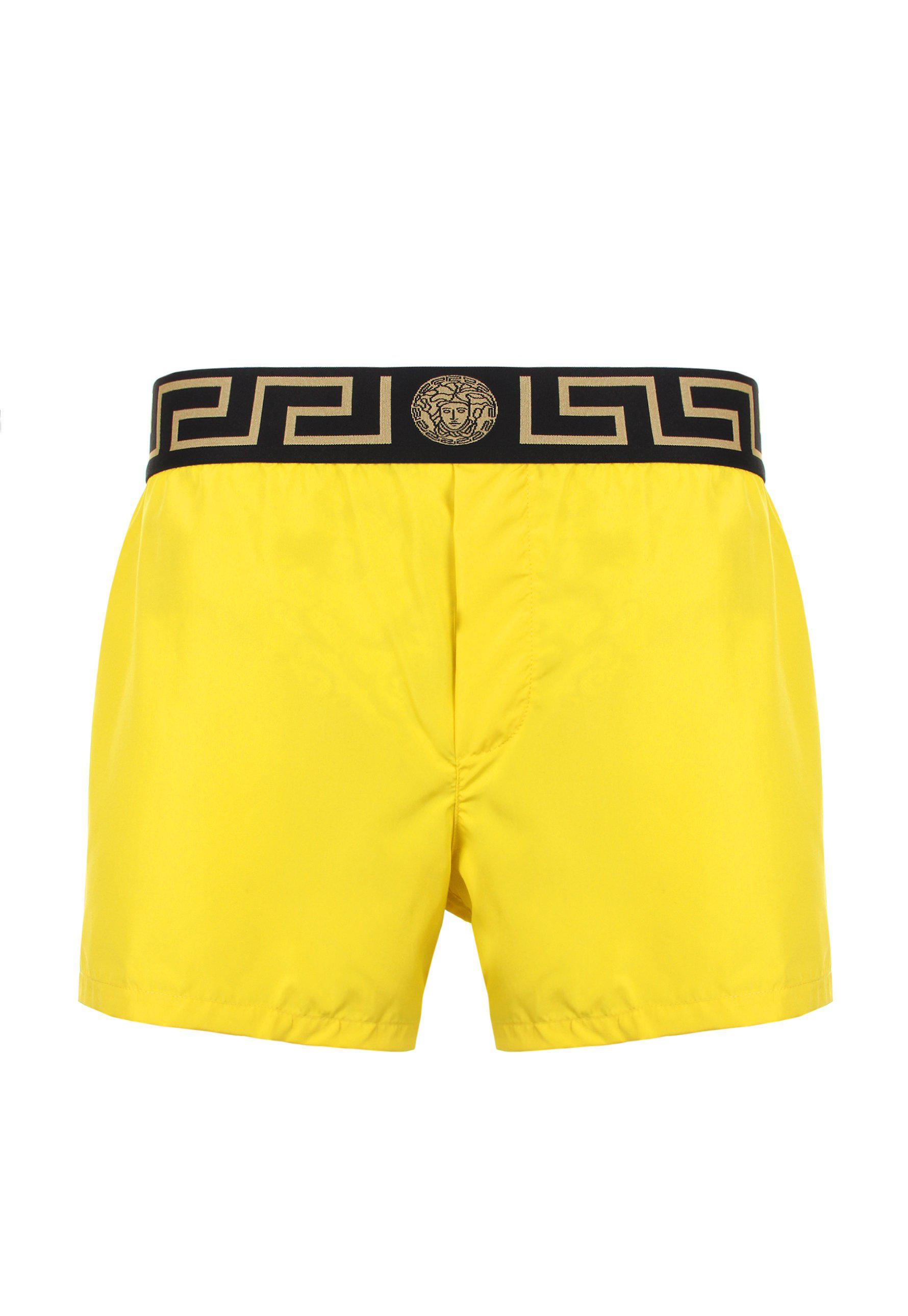 e8ee355c0c Versace Iconic Greca Swimming Shorts Yellow/black/gold in Yellow for ...