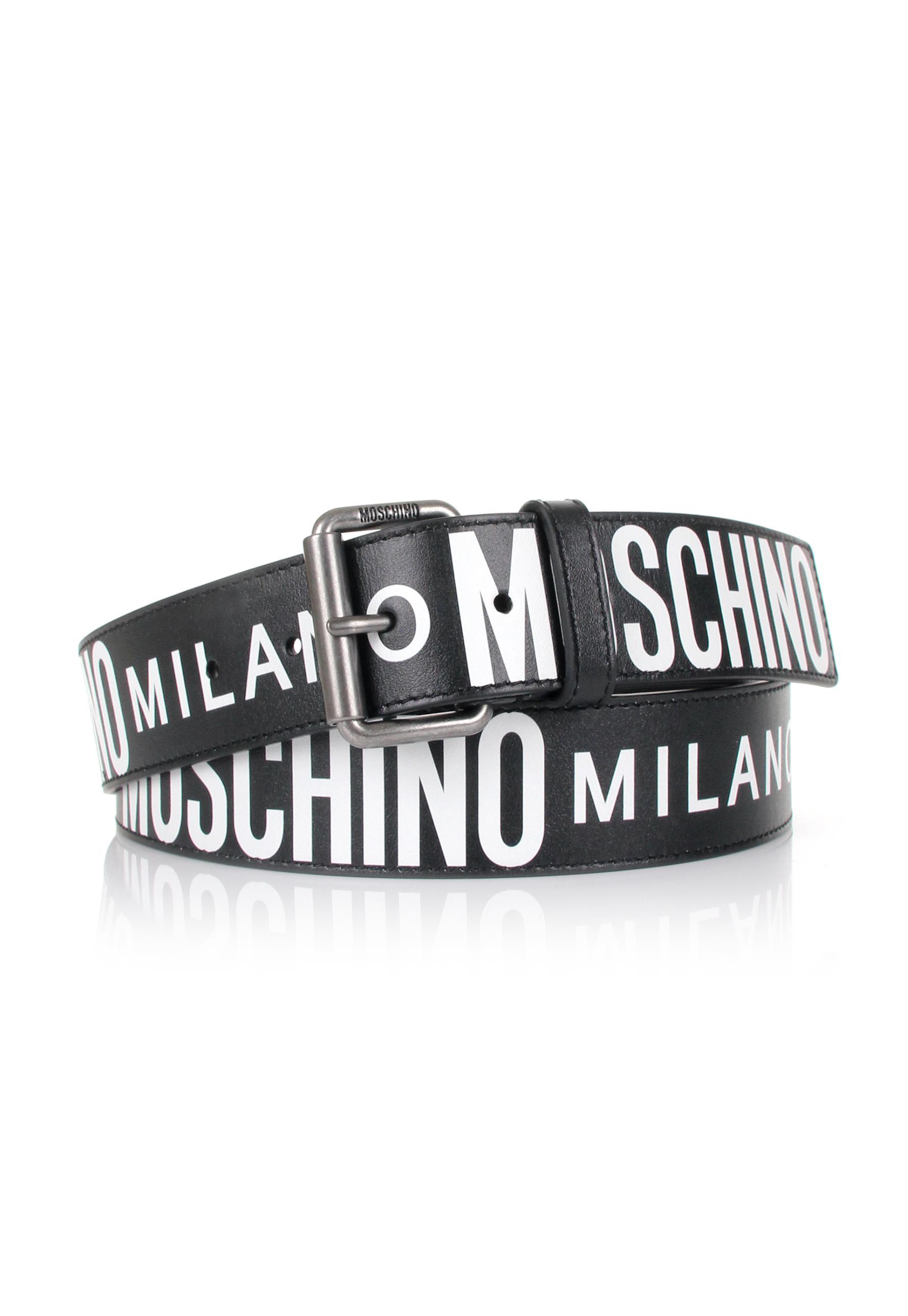 15c2187f53 Moschino - Men's Milano Belt Black/white for Men - Lyst. View fullscreen