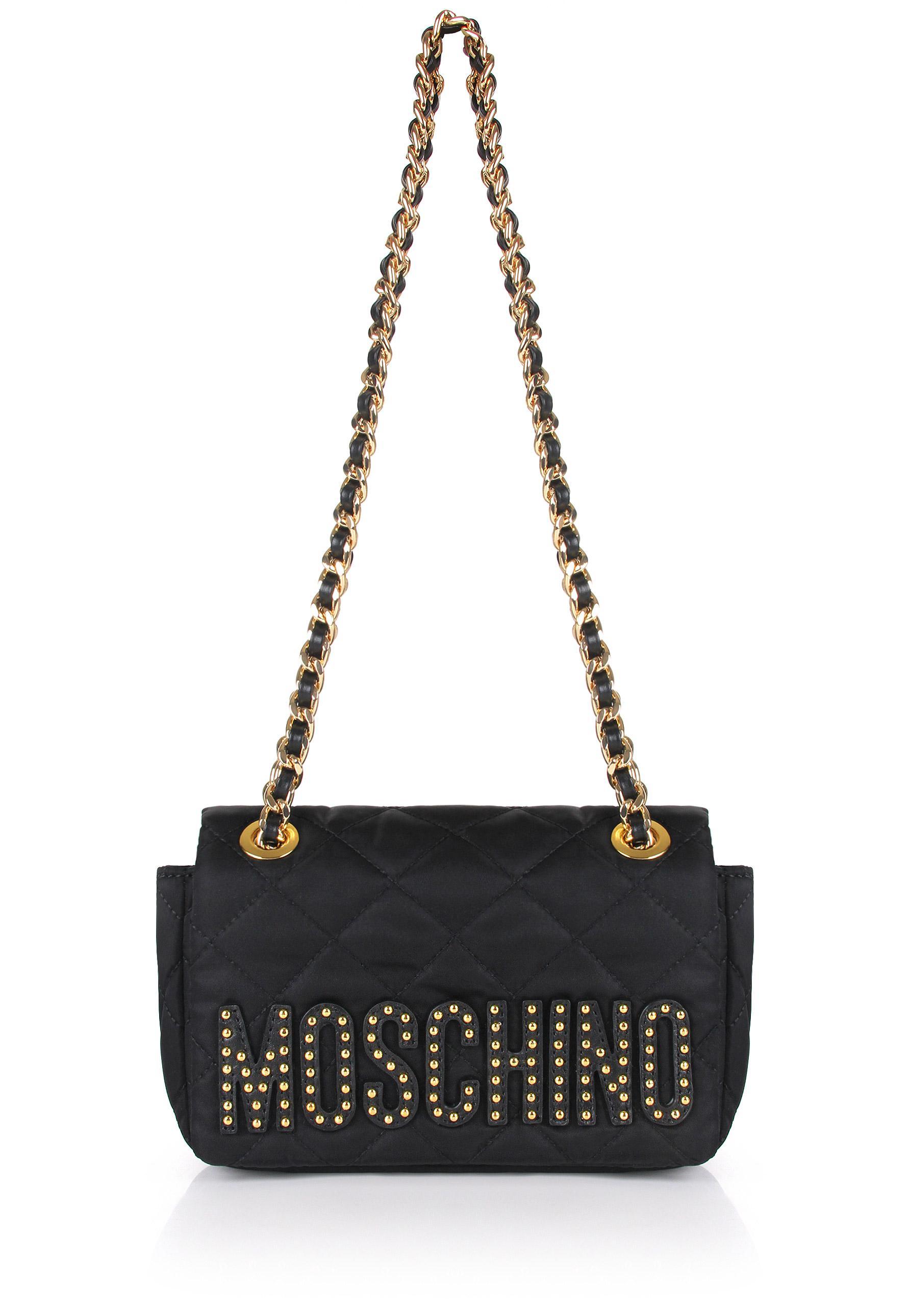 Moschino studded shoulder bag - Black rSU59