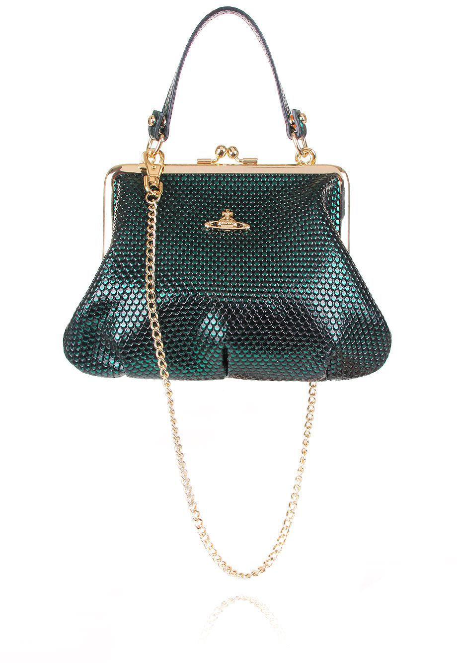 1d71f9aa56 Vivienne Westwood Florence 52020003 Small Evening Bag Green in Green ...