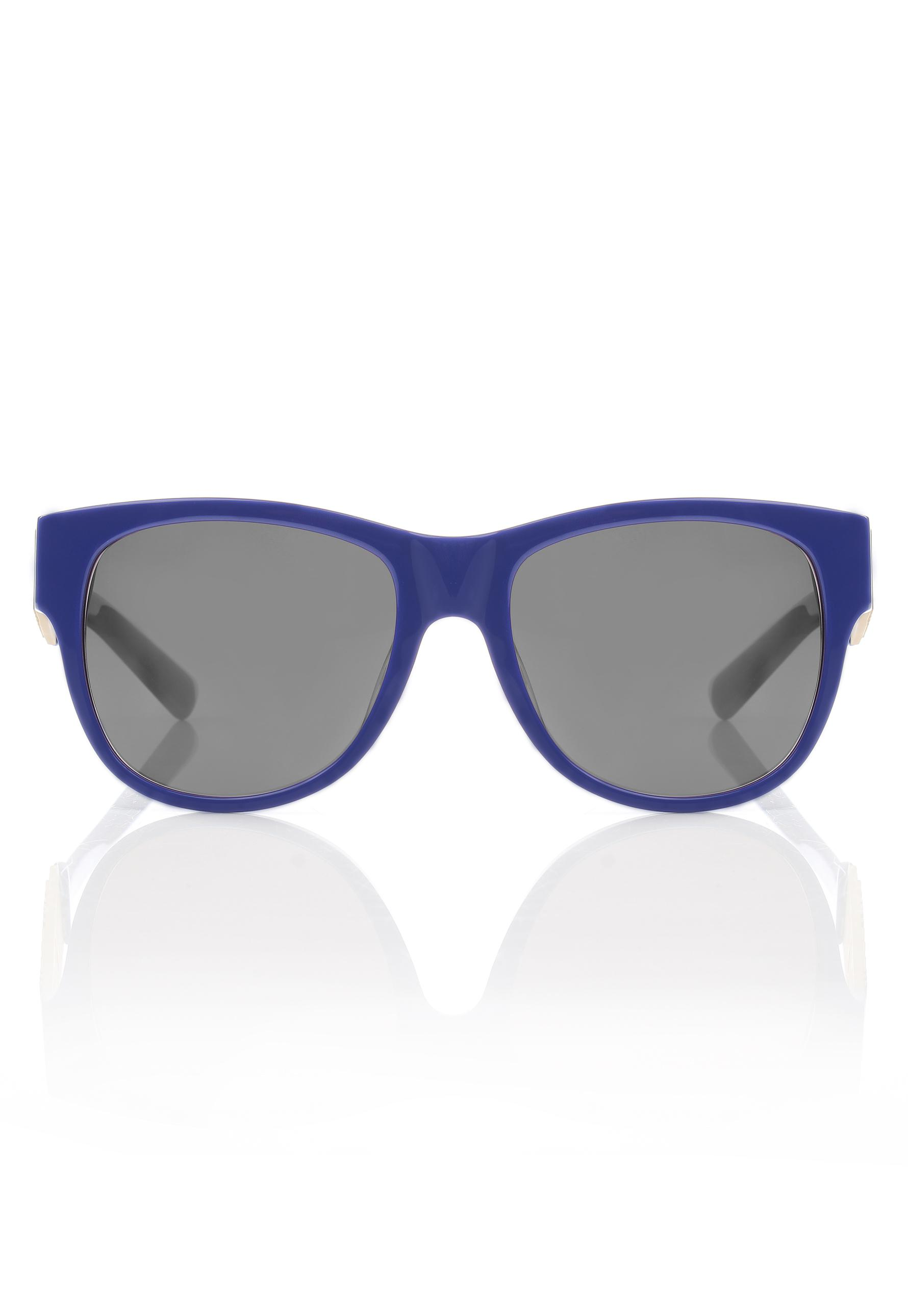 f7d43c3dbda6d Moschino Large Logo Wayfarer Sunglasses Blue grey Lens in Blue - Lyst