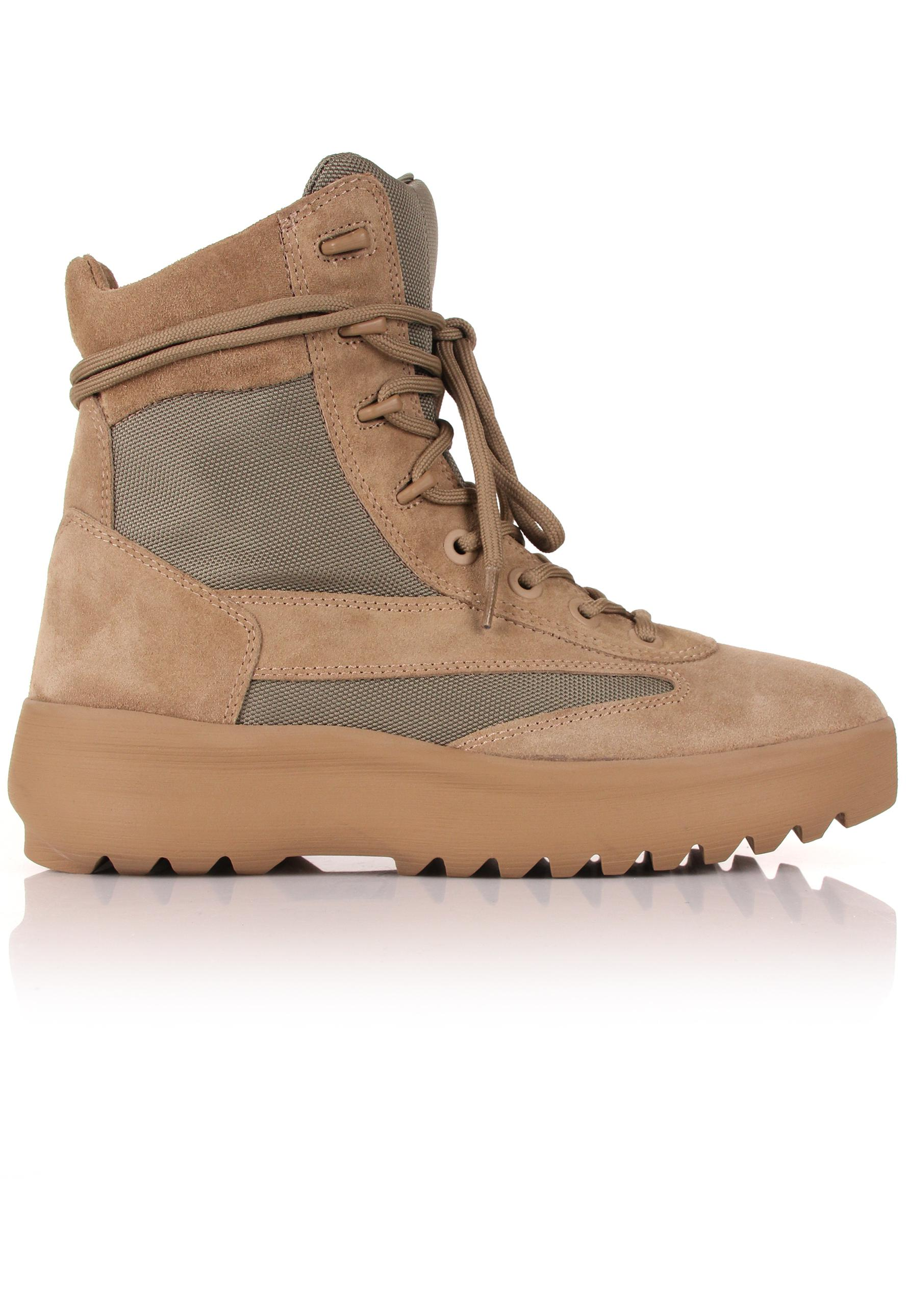 7f33405486f8d Yeezy Season 5 Military Boots Taupe in Brown for Men - Lyst