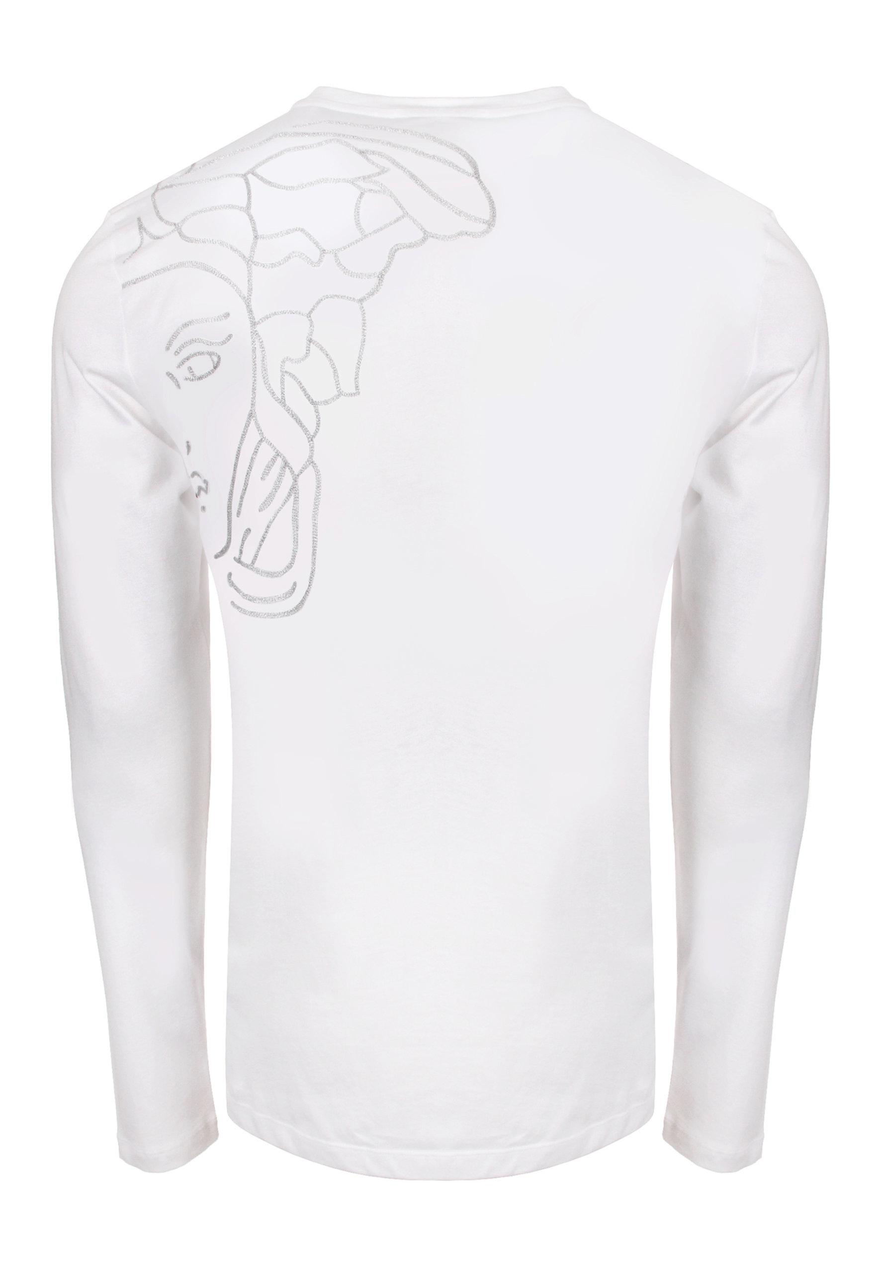 845ee626 Versace Medusa Back Long Sleeve T-shirt White in White for Men - Lyst