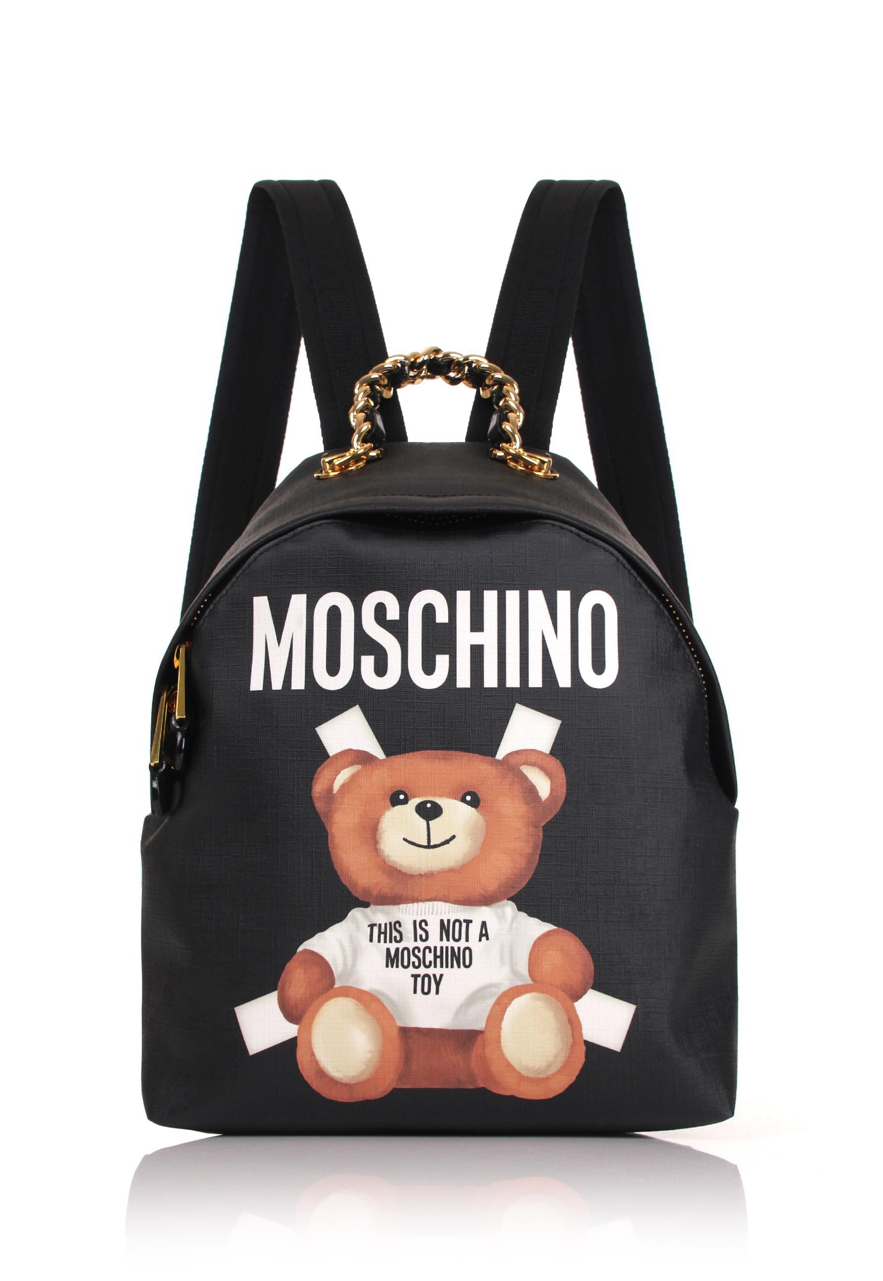 Moschino Bear Mini Backpack Black in Black Lyst
