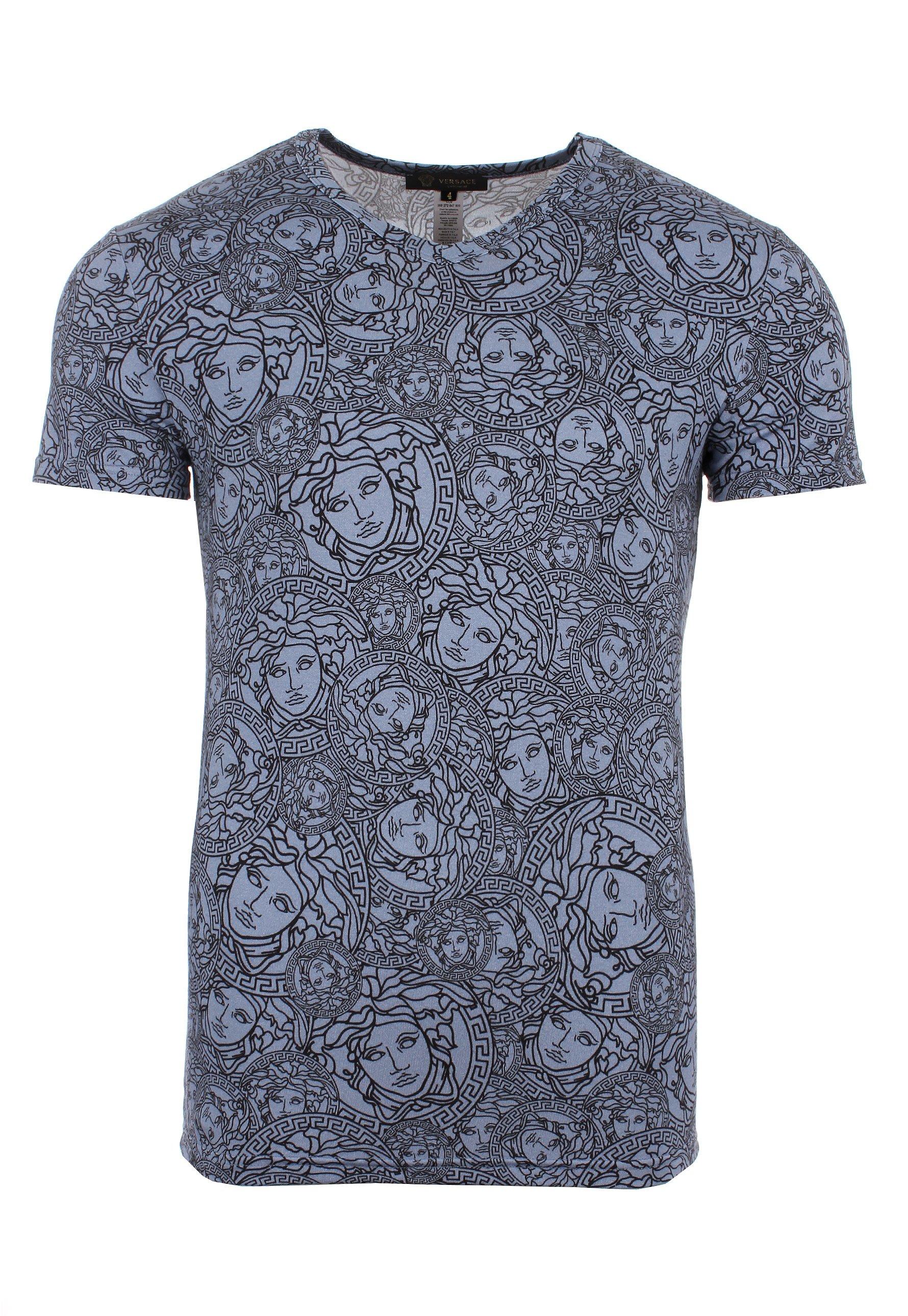 Lyst - Versace Olympus Medusa Head Print T Shirt Blue ...