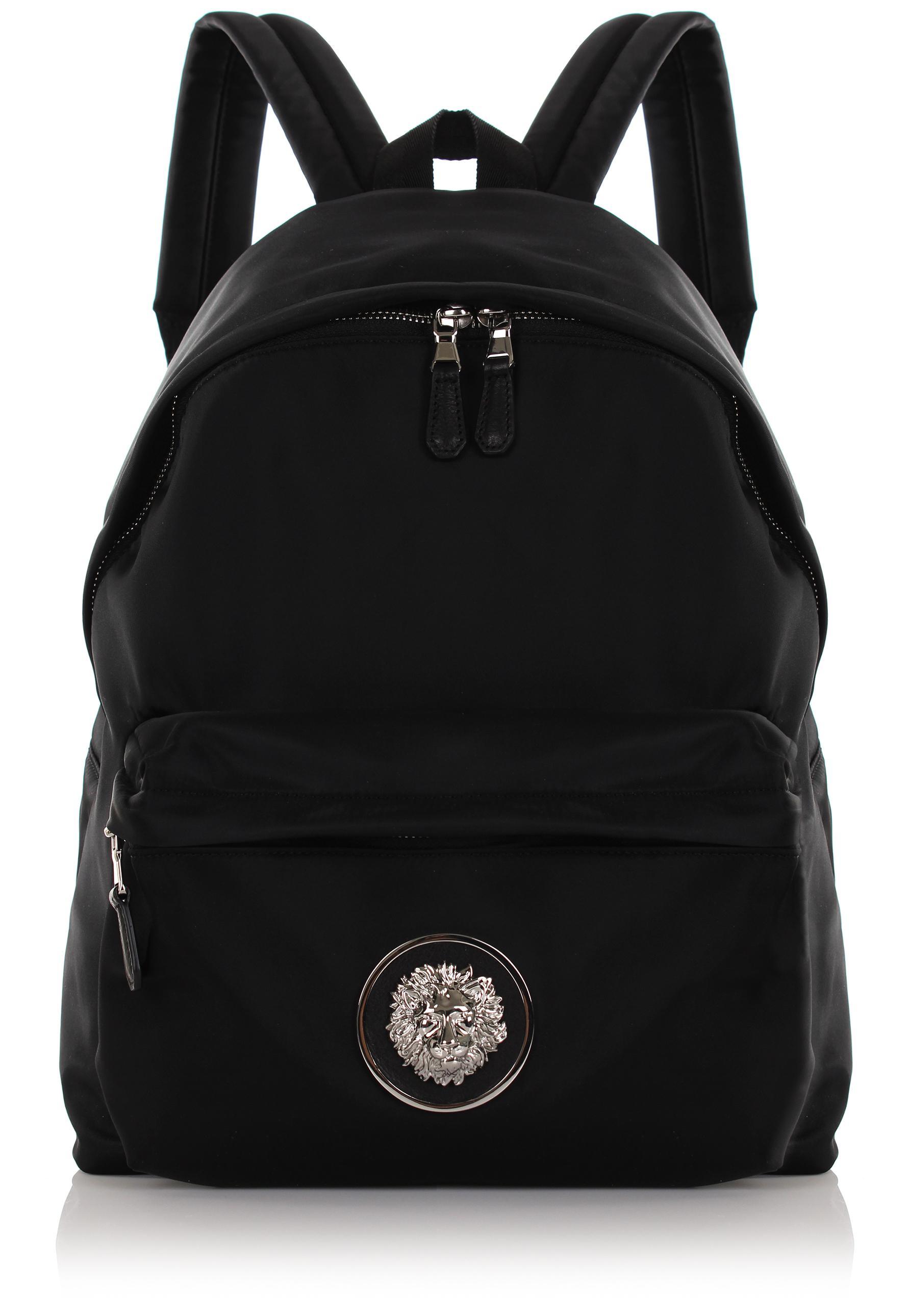 Lyst - Versus Nylon Lion Head Backpack Black in Black 3673947f49097