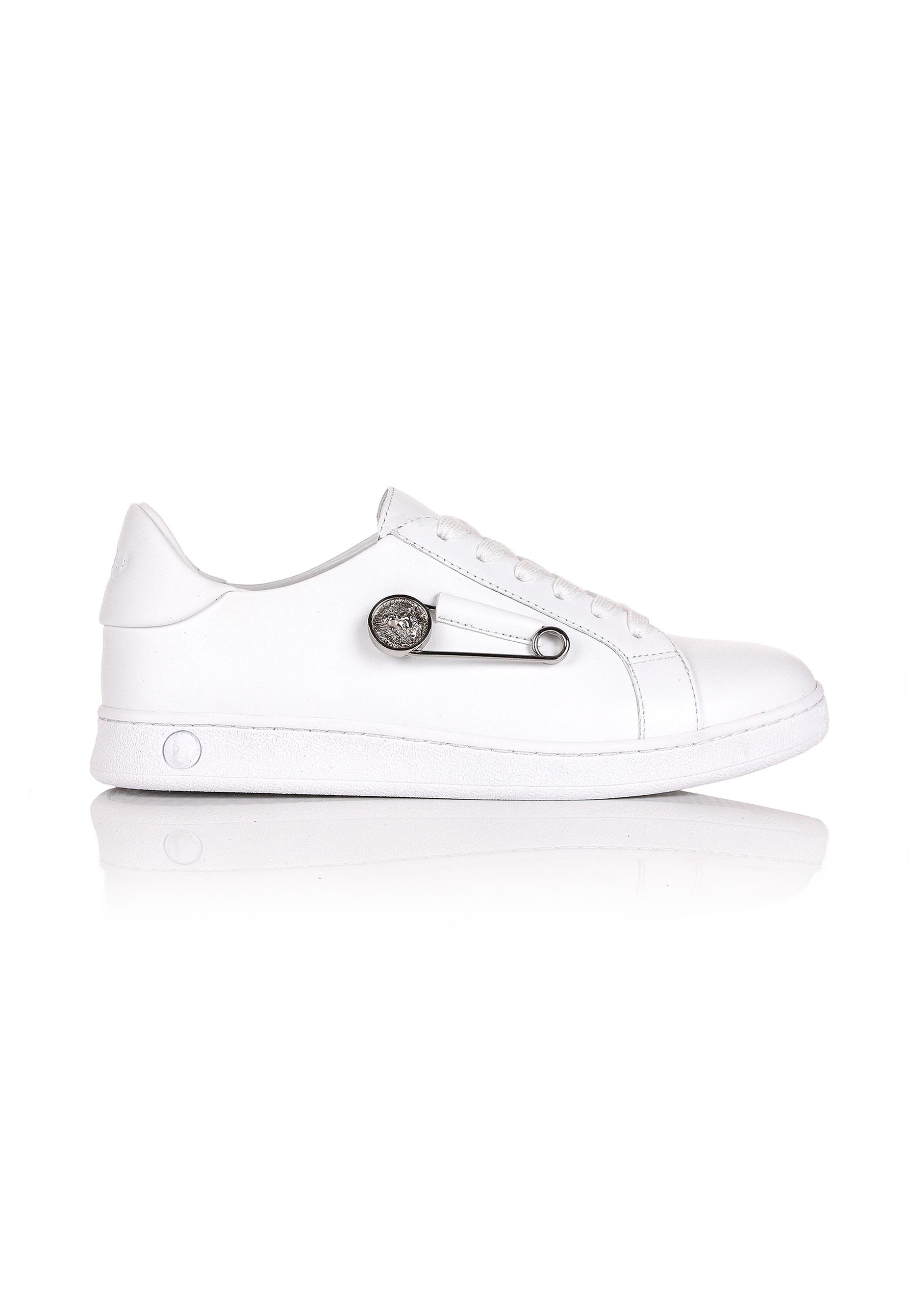 03dd5536bd Versus Safety Pin Sneakers White/white in White for Men - Lyst