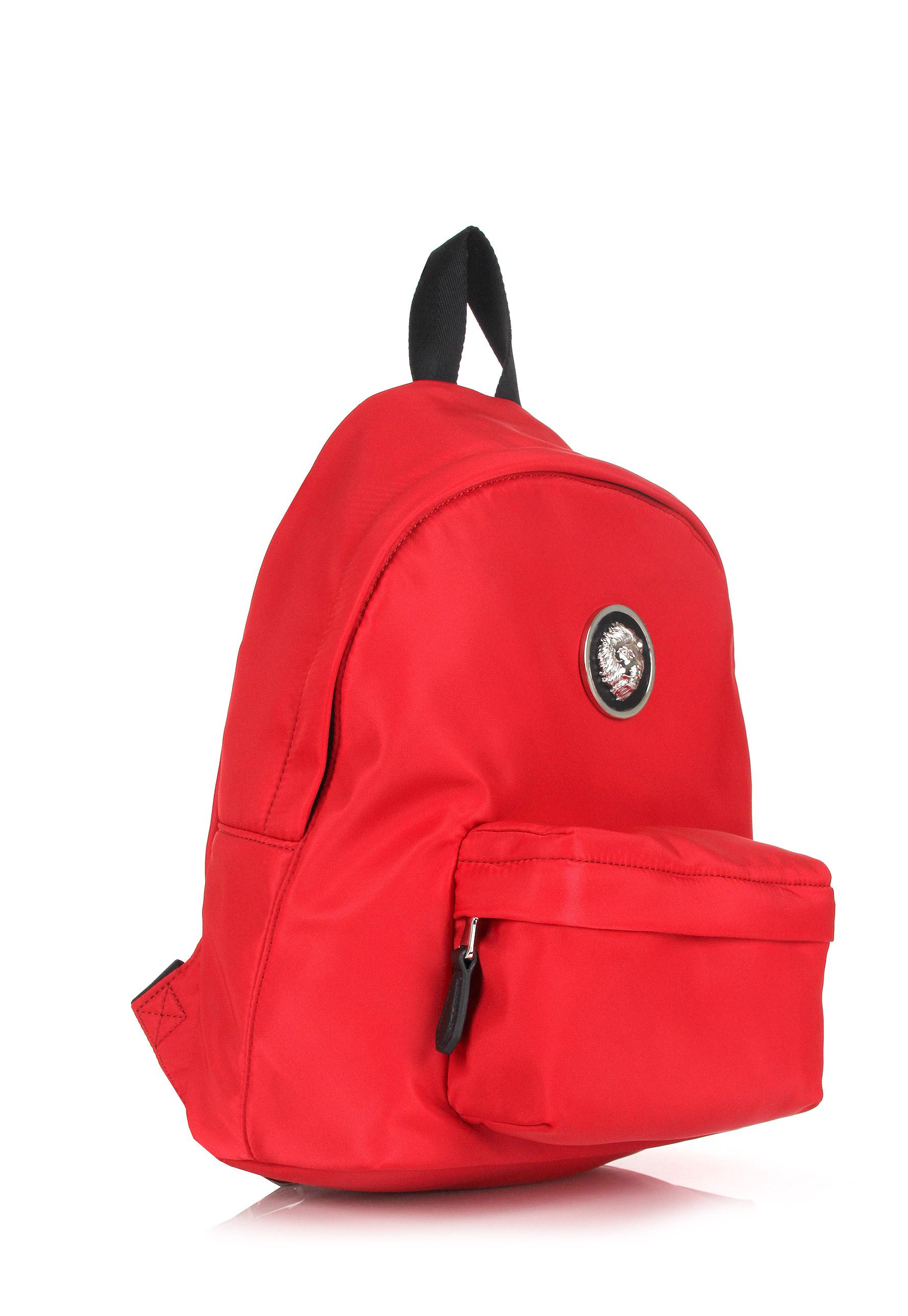 589098e150fb Lyst - Versus Small Nylon Lion Head Backpack Red nickel in Red