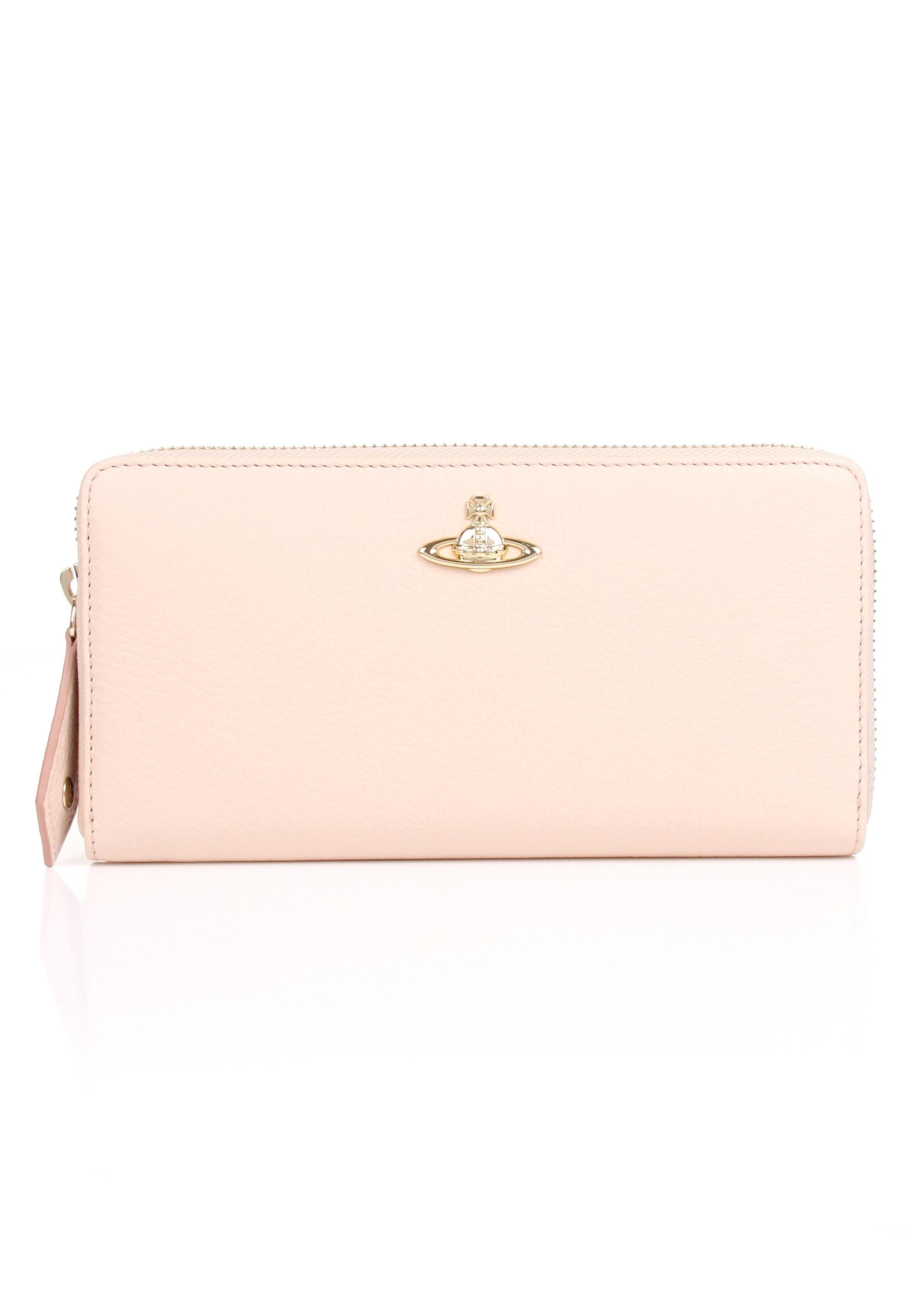 295da9ae0e8 Vivienne Westwood Balm 321385 Zip Around Purse Pink Cream In