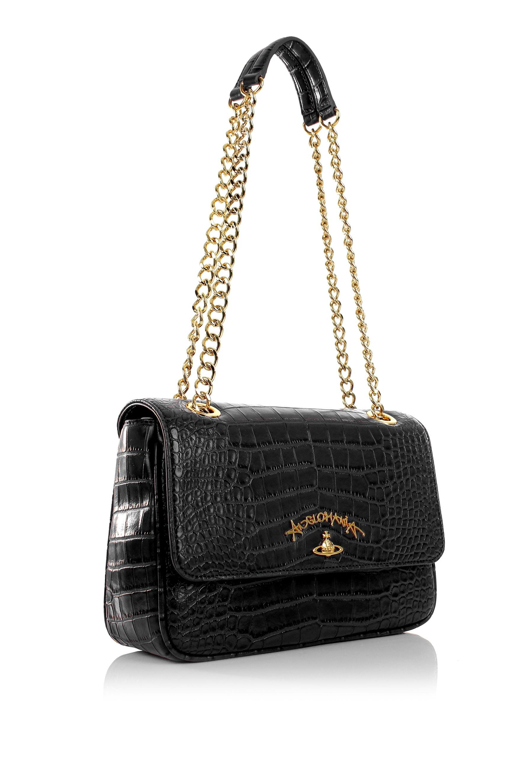 Vivienne Westwood Dorset 7273 Evening Bag With Flap Black in Black ... ccfb213cbb79f