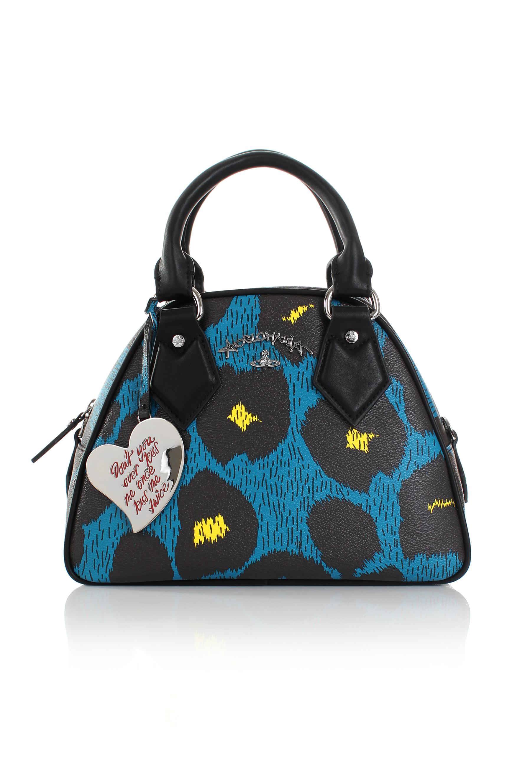 ddde9a8b14 Lyst - Vivienne Westwood Leopardmania 13947 Yasmine Bag Blue in Blue