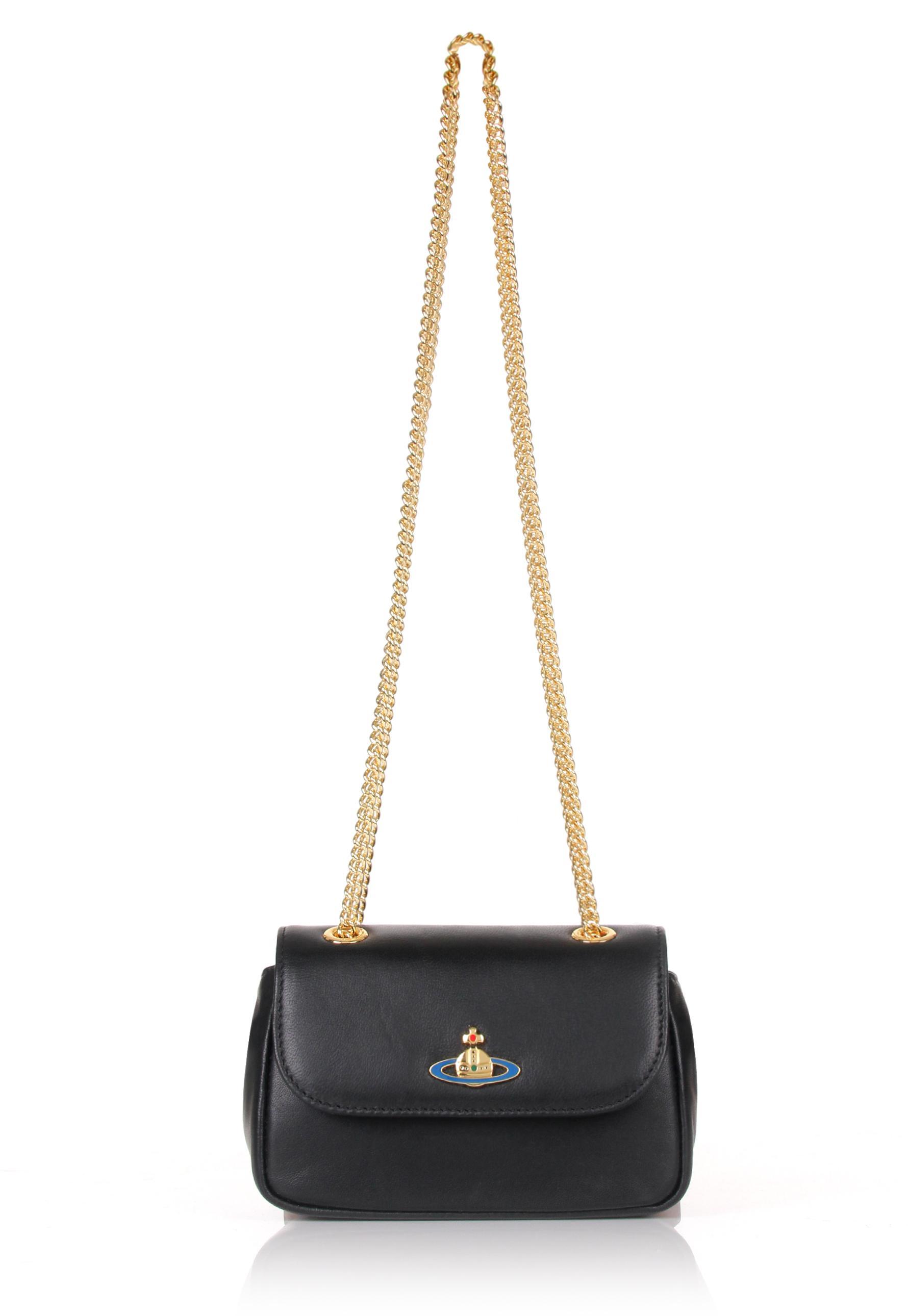 Vivienne westwood Nappa 7150 Mini Crossbody Bag Black in ...