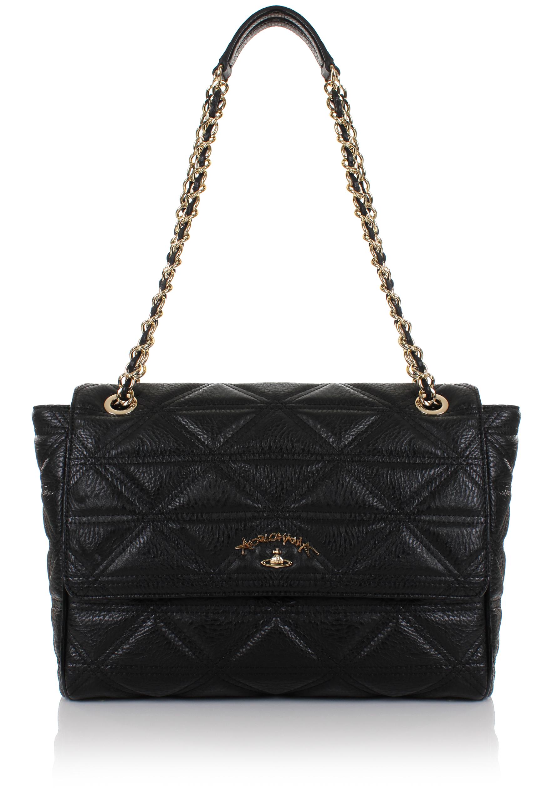 2af6685a9221 Vivienne Westwood Sharlenemania 7050 Large Quilted Bag With Flap ...
