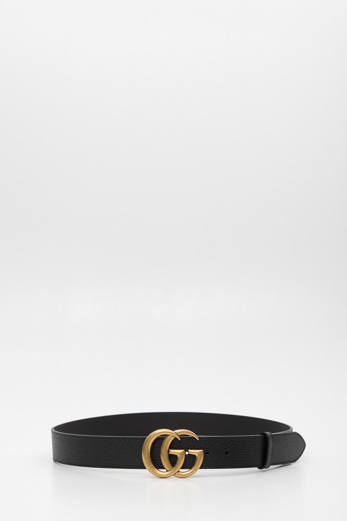 outlet 46c1b 05812 Gucci Multicolor Cintura GG Marmont 4 Cm Fibbia Oro for men