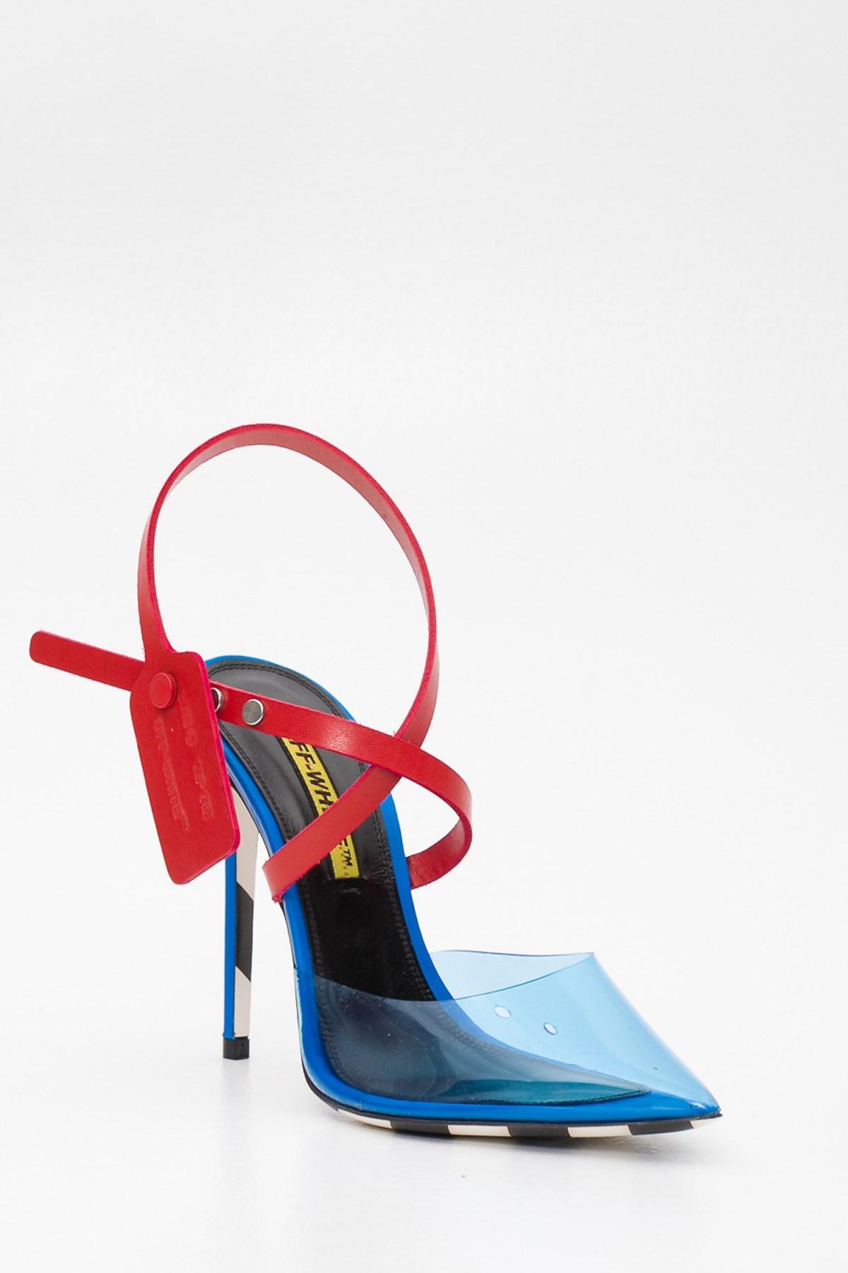 o Virgil Abloh Leather Blue Jelly Mule