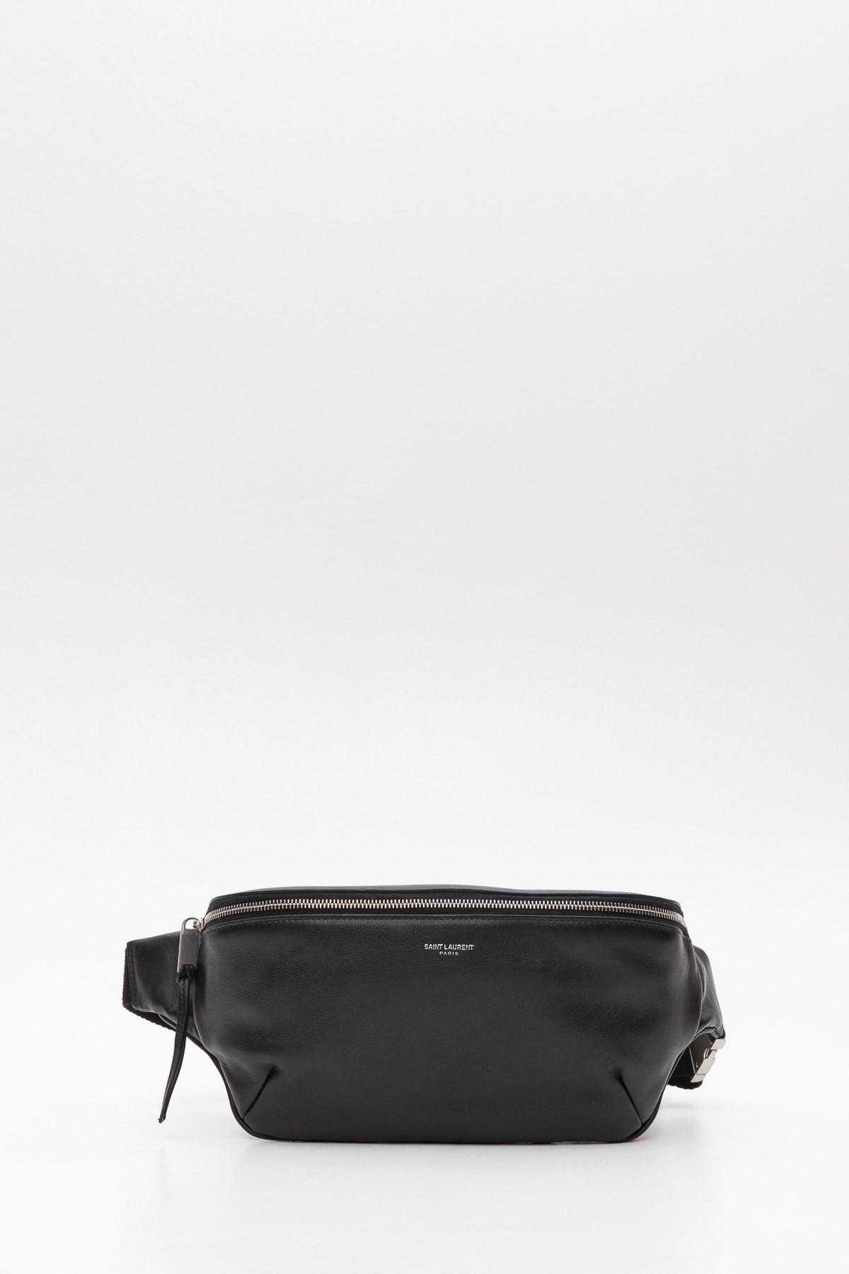 a1de02b291 Saint Laurent Classic Belt Bag In Soft Leather in Black for Men - Lyst