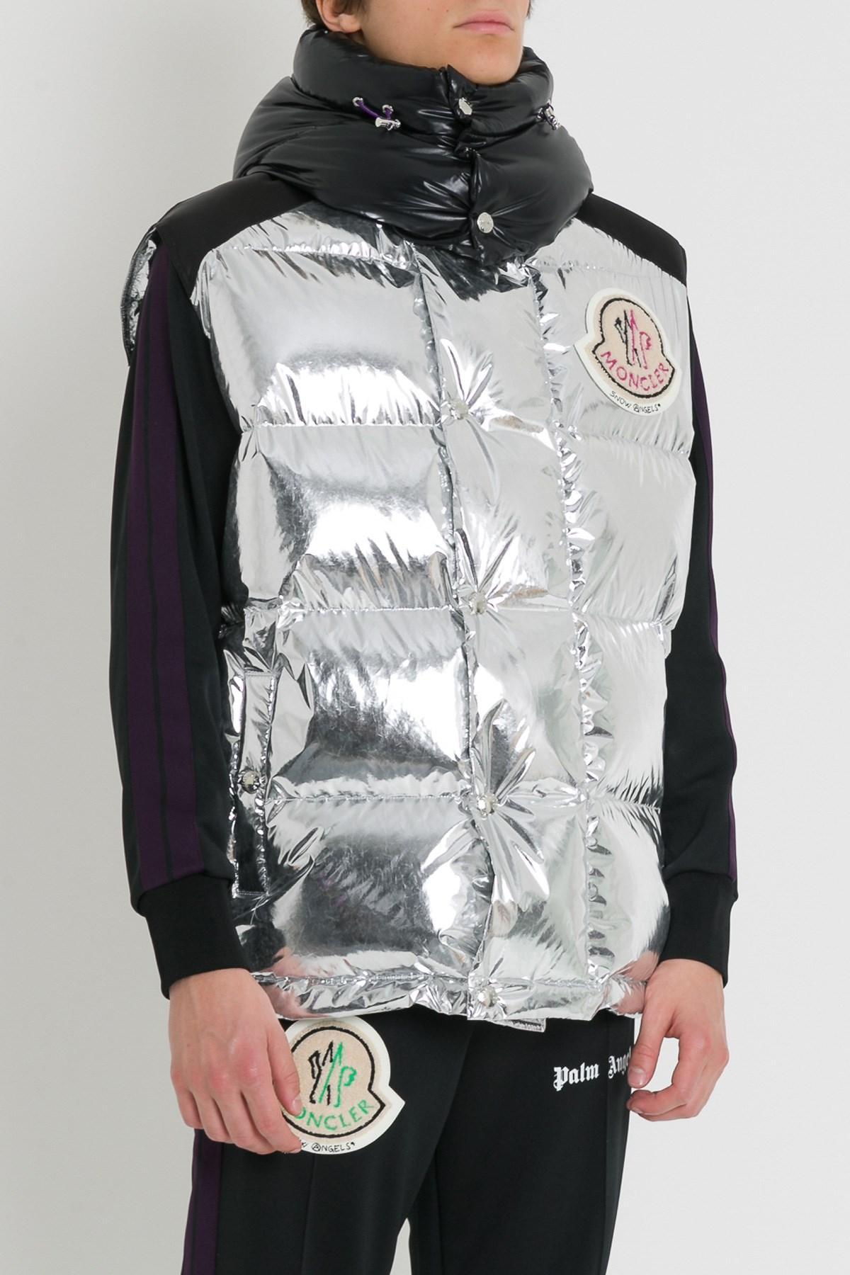 59b317fdf Moncler Genius Multicolor 8 Moncler Palm Angels Silver Down Exen Vest for  men