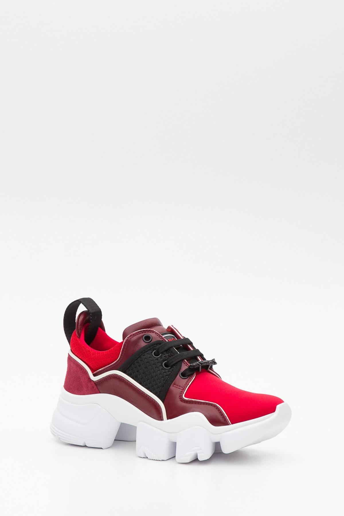 affcbf74fbb6 Givenchy - Red Low Jaw Leather-trimmed Sneakers - Lyst. View fullscreen