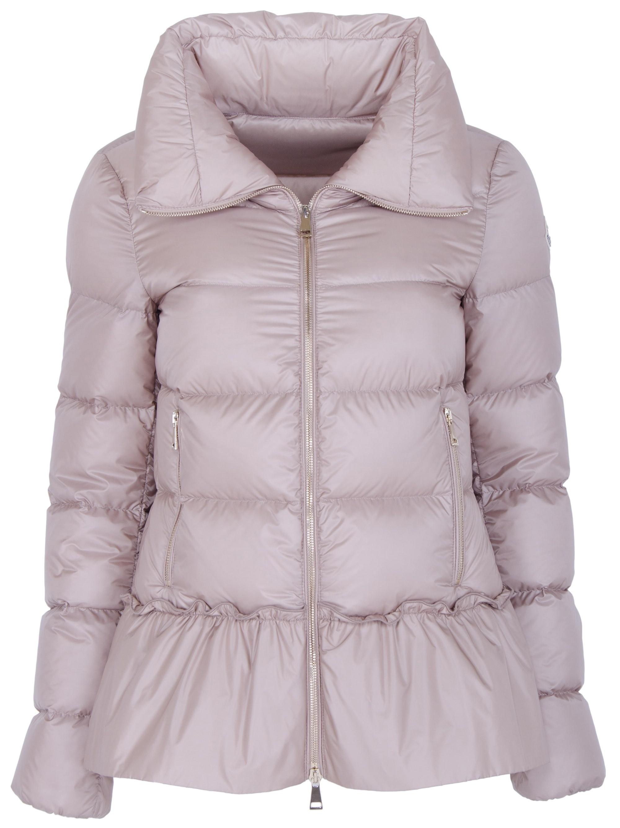 Moncler Synthetic Anet Peplum-detailed Down Jacket - Lyst