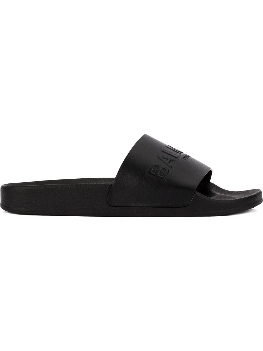 Balmain embossed logo slide sandals 2014 new cheap sale newest tumblr sale online e3gy0197