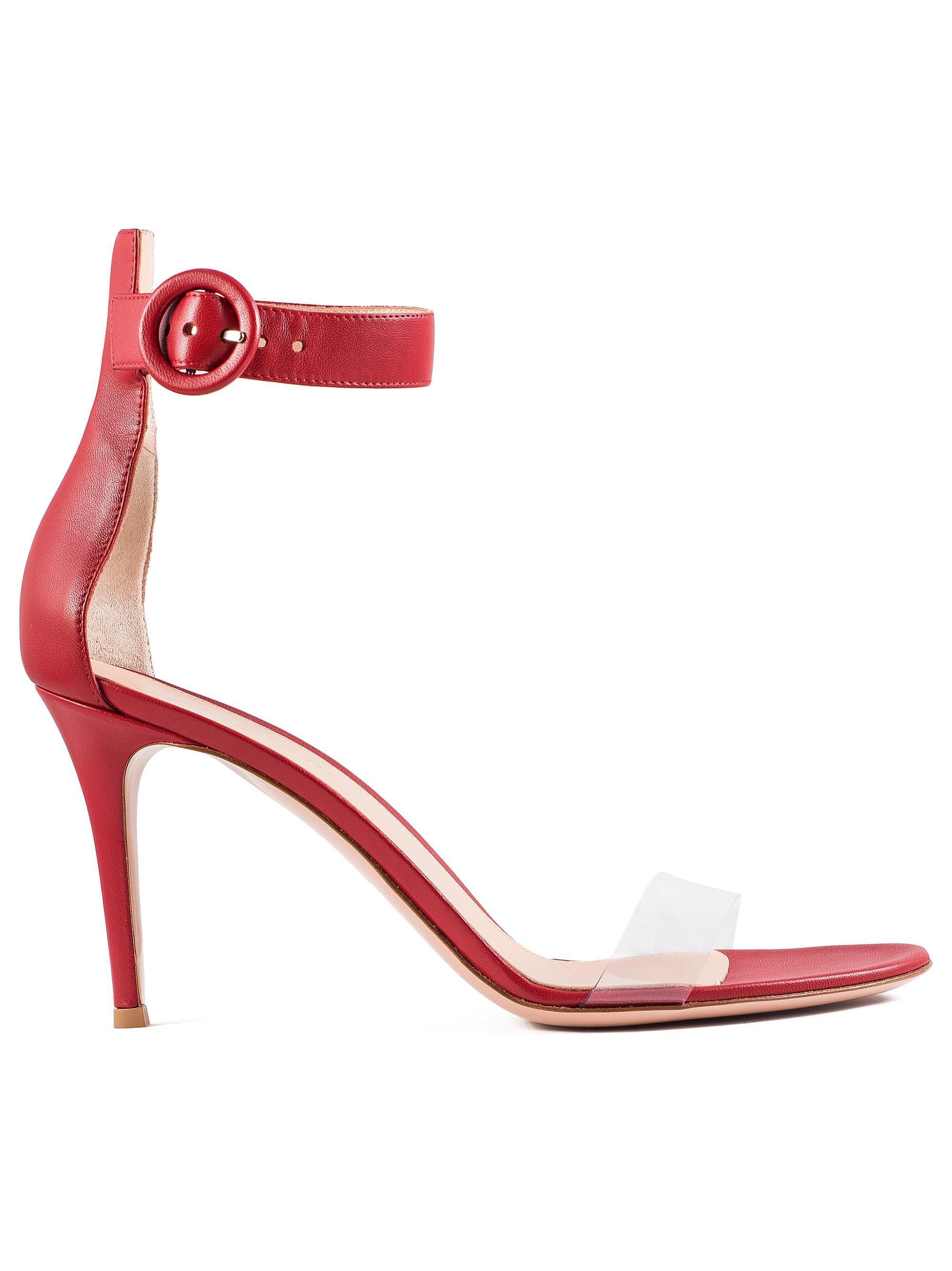 cheap perfect cheap price Gianvito Rossi Stella Leather & PVC Sandals nicekicks gpbLmk
