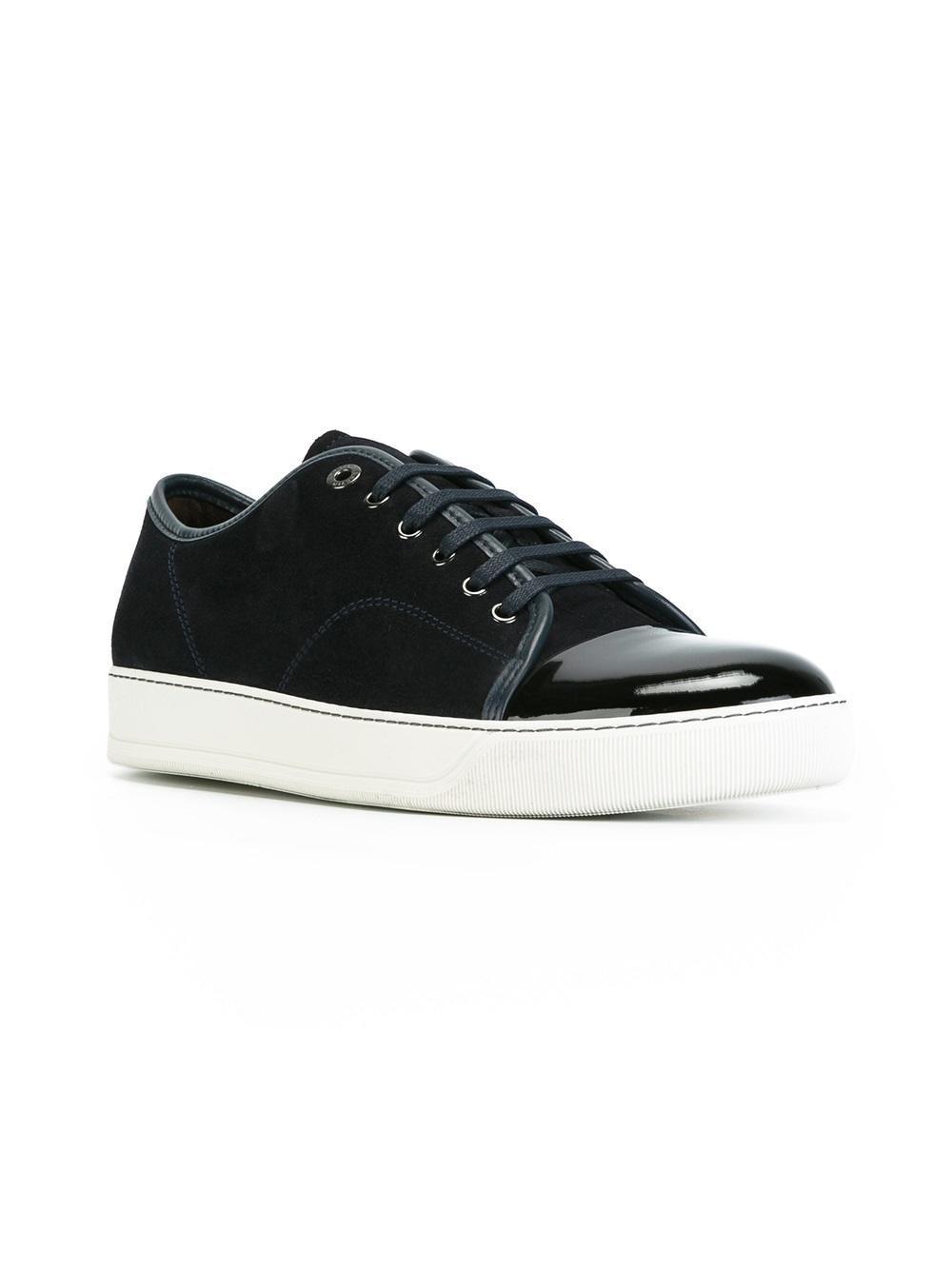 d6576207678 Lanvin - Black Toe-capped Sneakers for Men - Lyst. View fullscreen