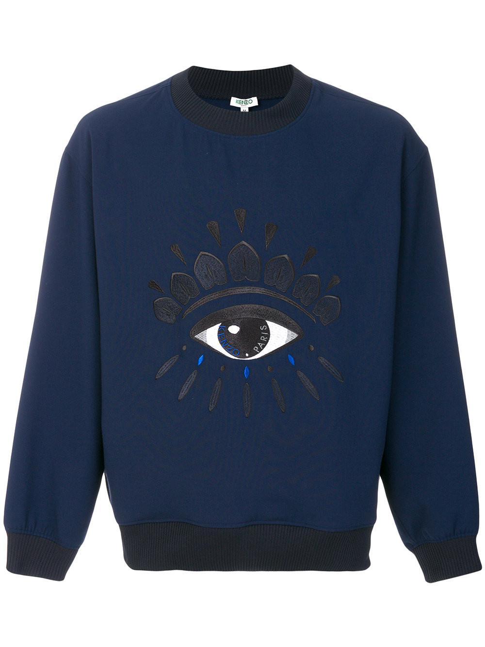 03ac0eeef KENZO - Blue Embroidered Eye Sweatshirt for Men - Lyst. View fullscreen