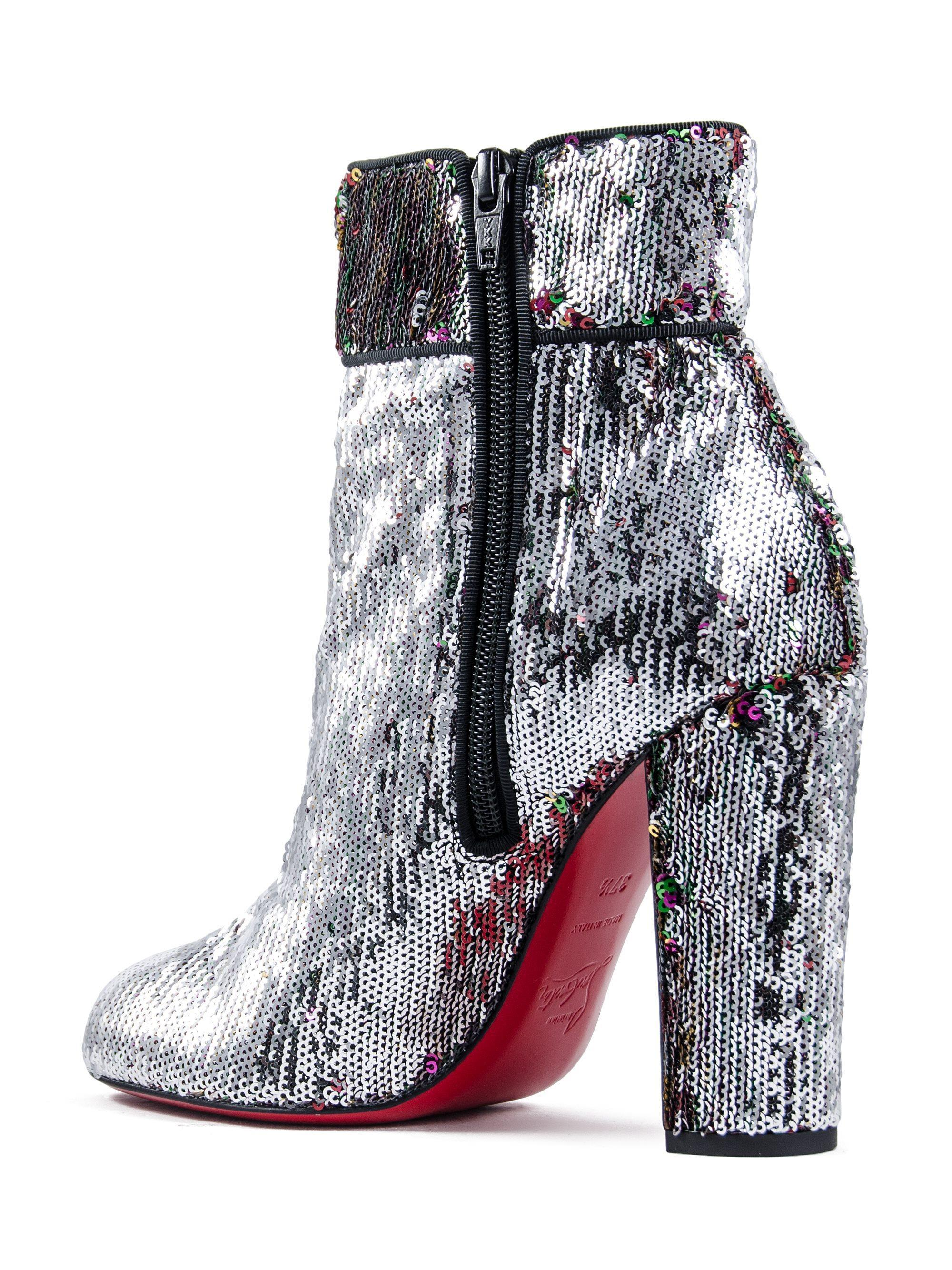 best website 63eb8 5f46e Christian Louboutin Multicolor Moulamax 100 Sequined Ankle Boots