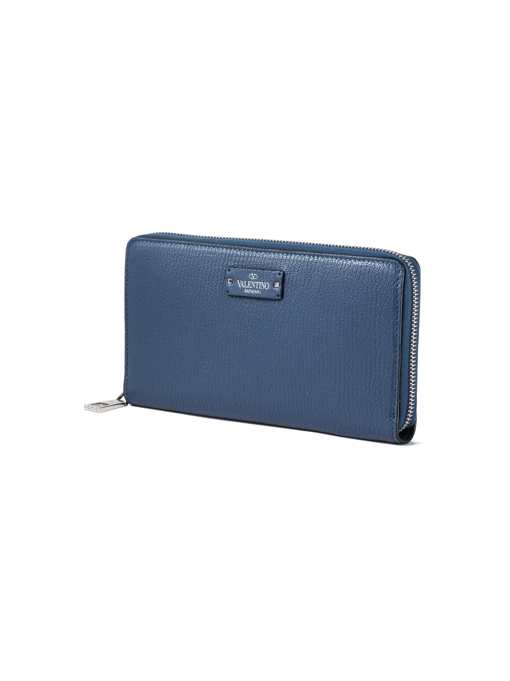 539d3c1071e0f Lyst - Valentino Garavani Cardholder With Zip in Blue for Men