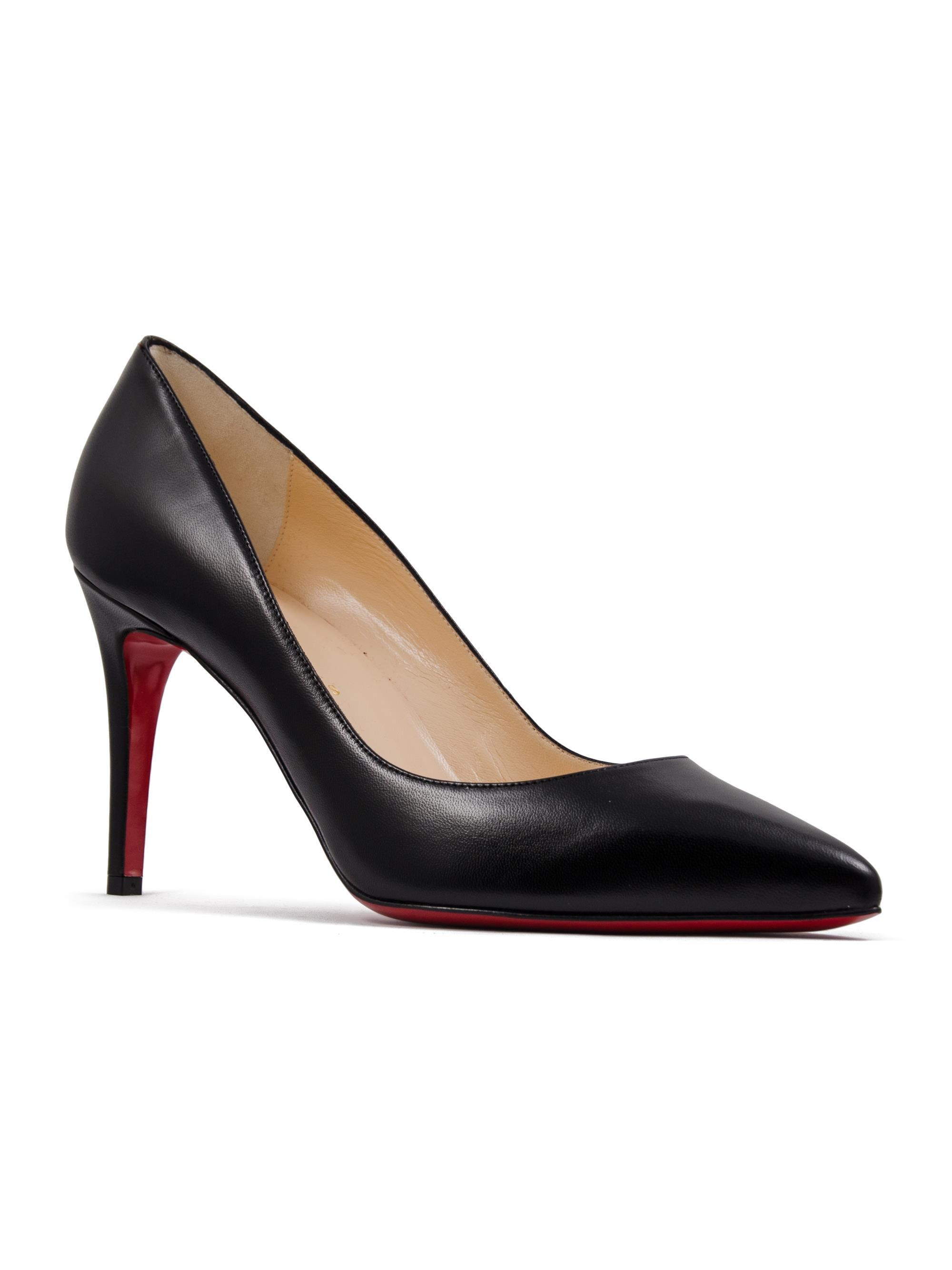 reputable site 390c4 7a688 Christian Louboutin Black Pigalle Nappa Shiny