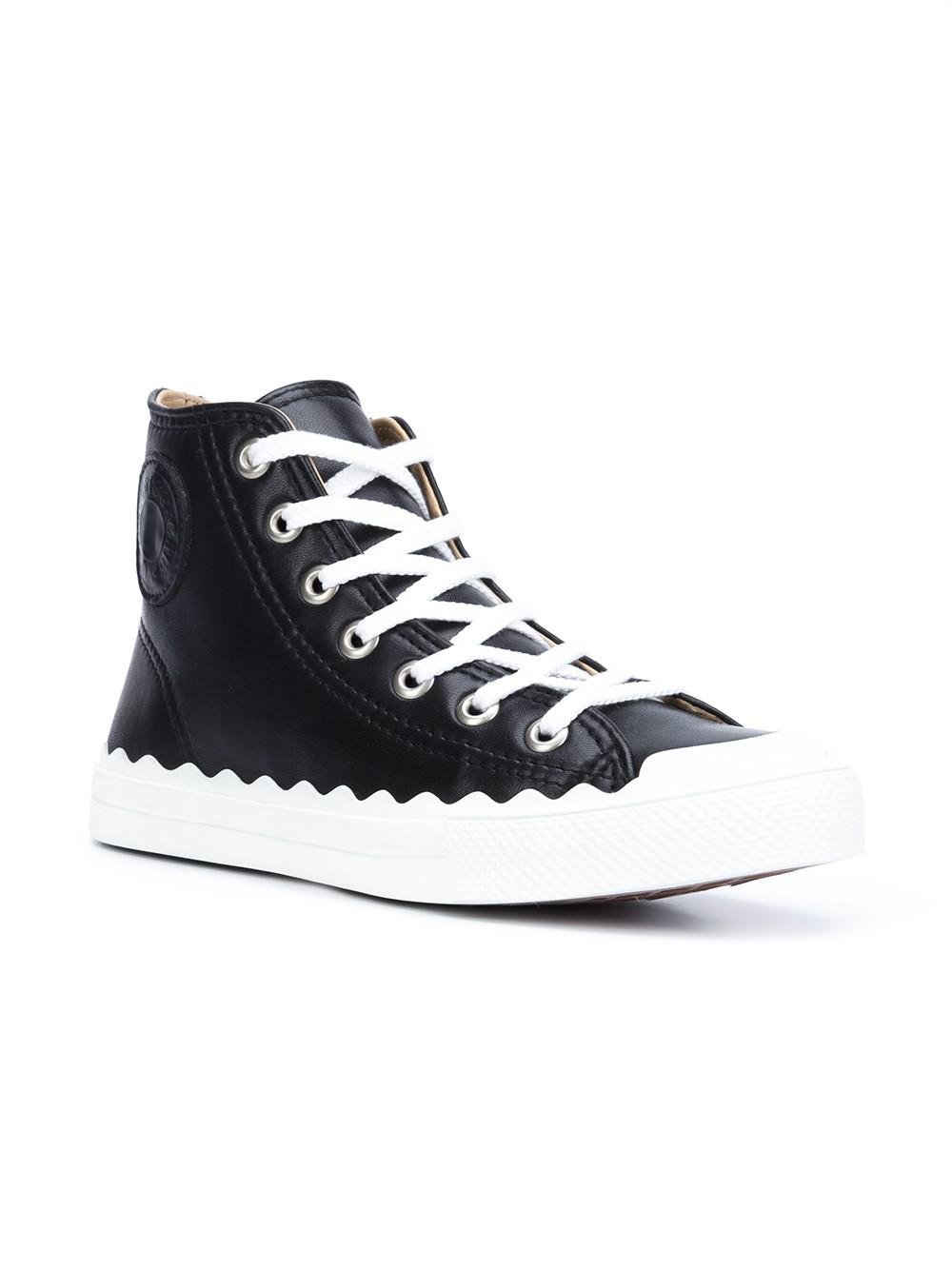 Chlo 233 Kyle Leather Sneakers In Blue For Men Lyst