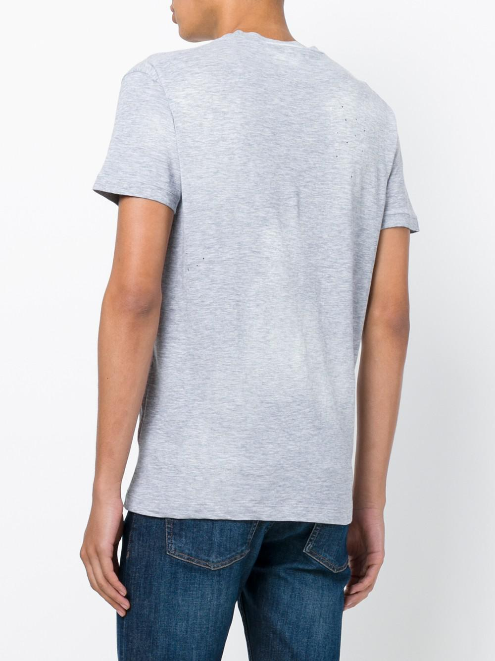 Lyst Dsquared Printed Cotton T Shirt In Blue For Men